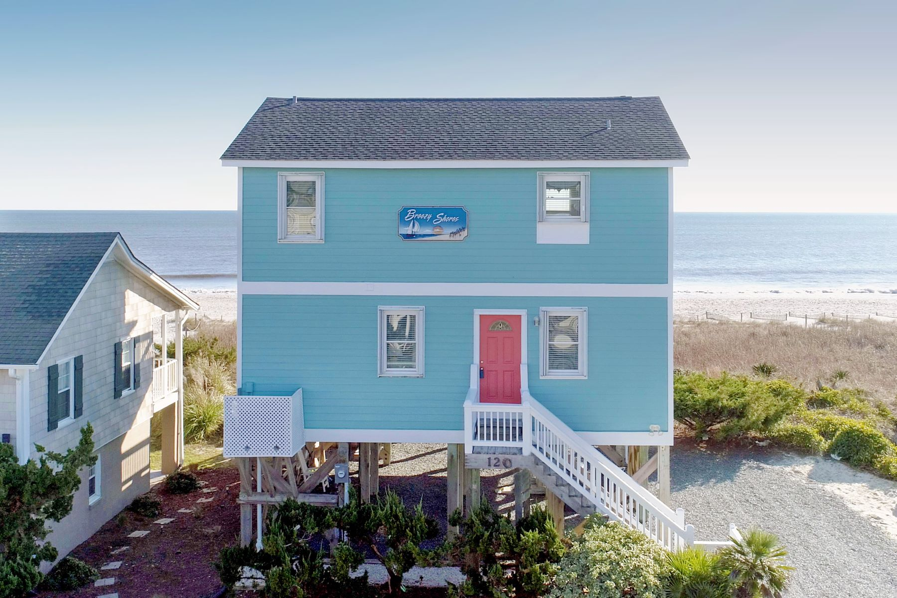 Single Family Homes for Sale at Ocean Front Home that is a Beach Lover's Paradise 120 Ocean Boulevard E Holden Beach, North Carolina 28462 United States