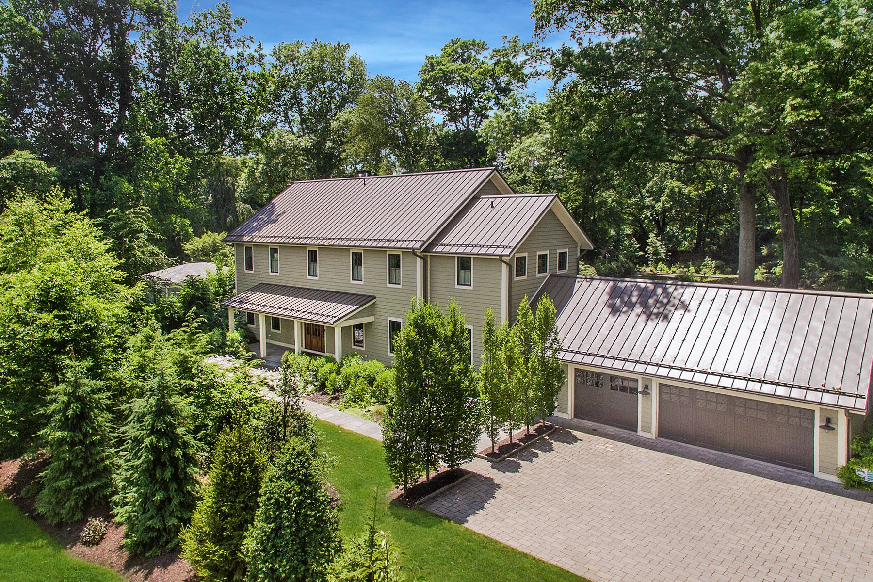 Single Family Homes for Sale at Luxuriously Eco-friendly 443 Maple Lane, Sewickley, Pennsylvania 15143 United States