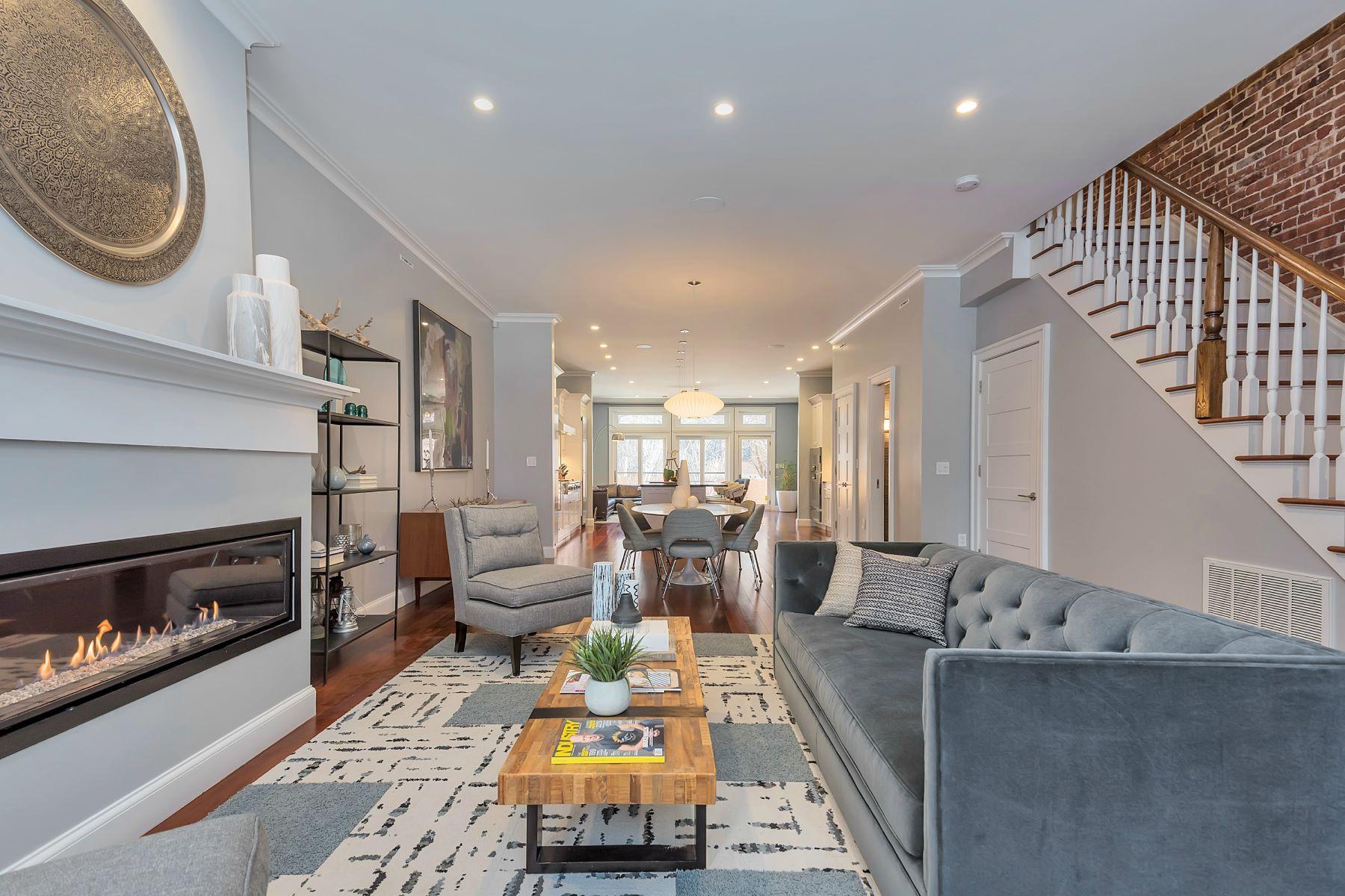 Многосемейный дом для того Продажа на Custom uptown Hoboken Townhome 1035 Park Ave Hoboken, Нью-Джерси 07030 Соединенные Штаты