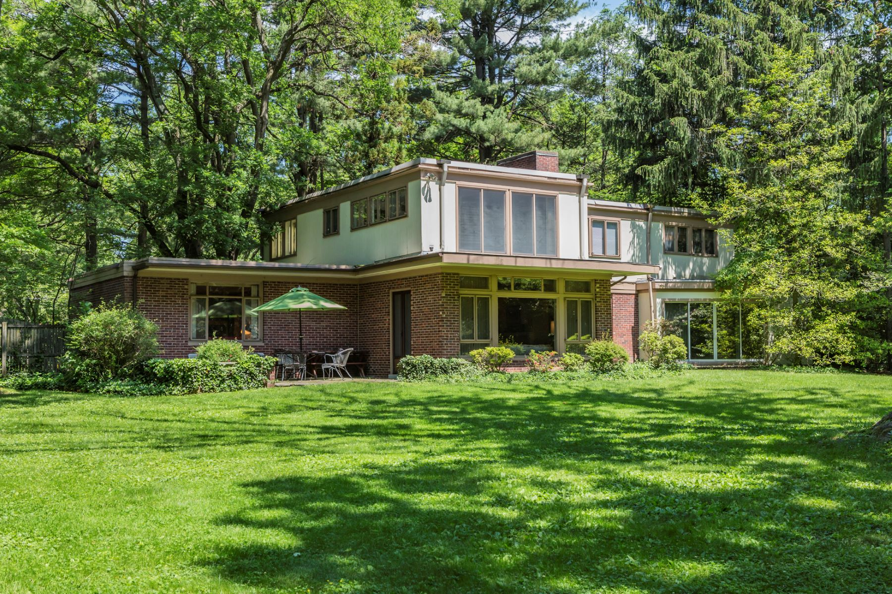 Single Family Home for Sale at A True Mid Century Modern and an Emerald Landscape 84 Allison Road, Princeton, New Jersey 08540 United States