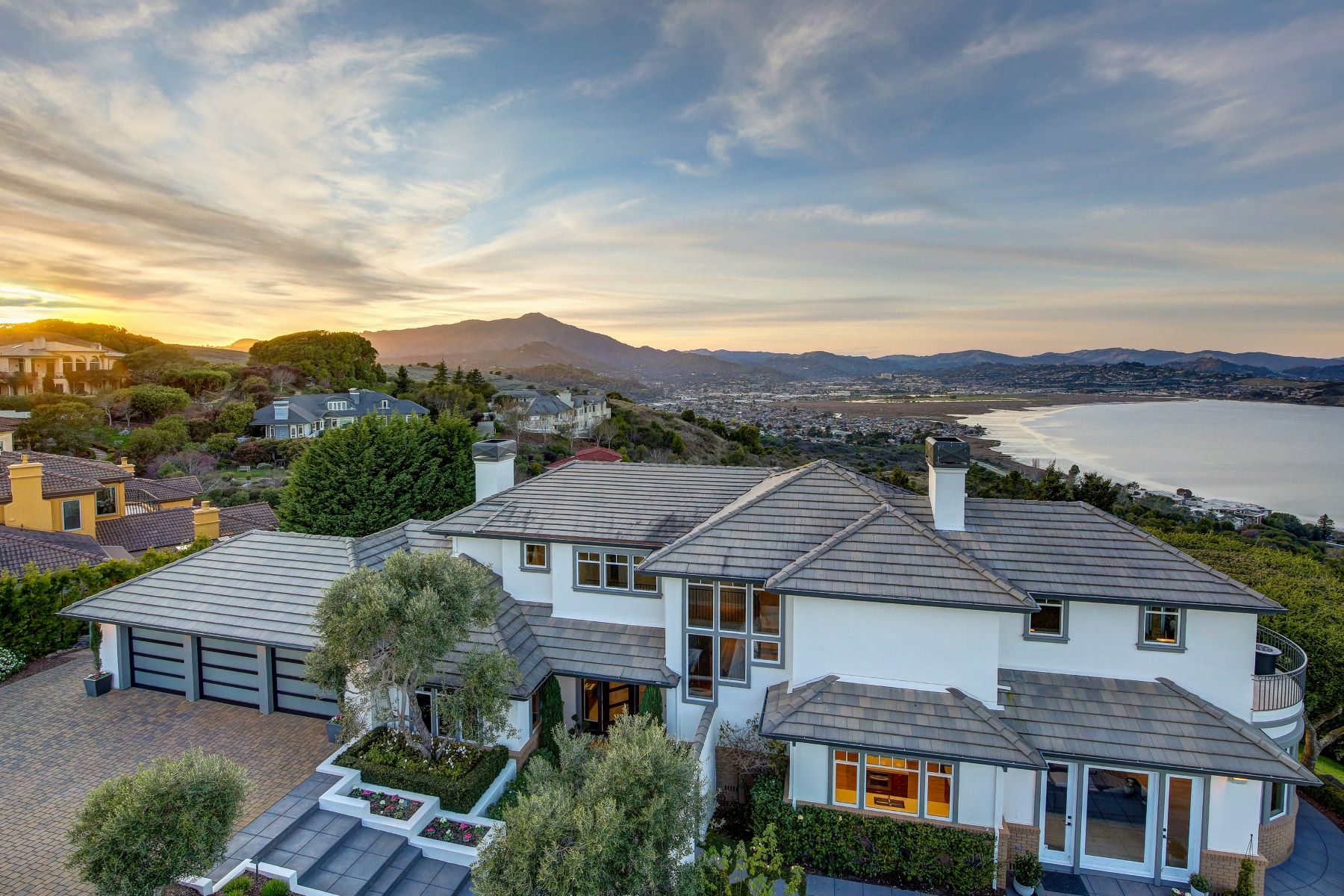 Single Family Homes for Sale at Incredible View Estate 205 Taylor Road Tiburon, California 94920 United States
