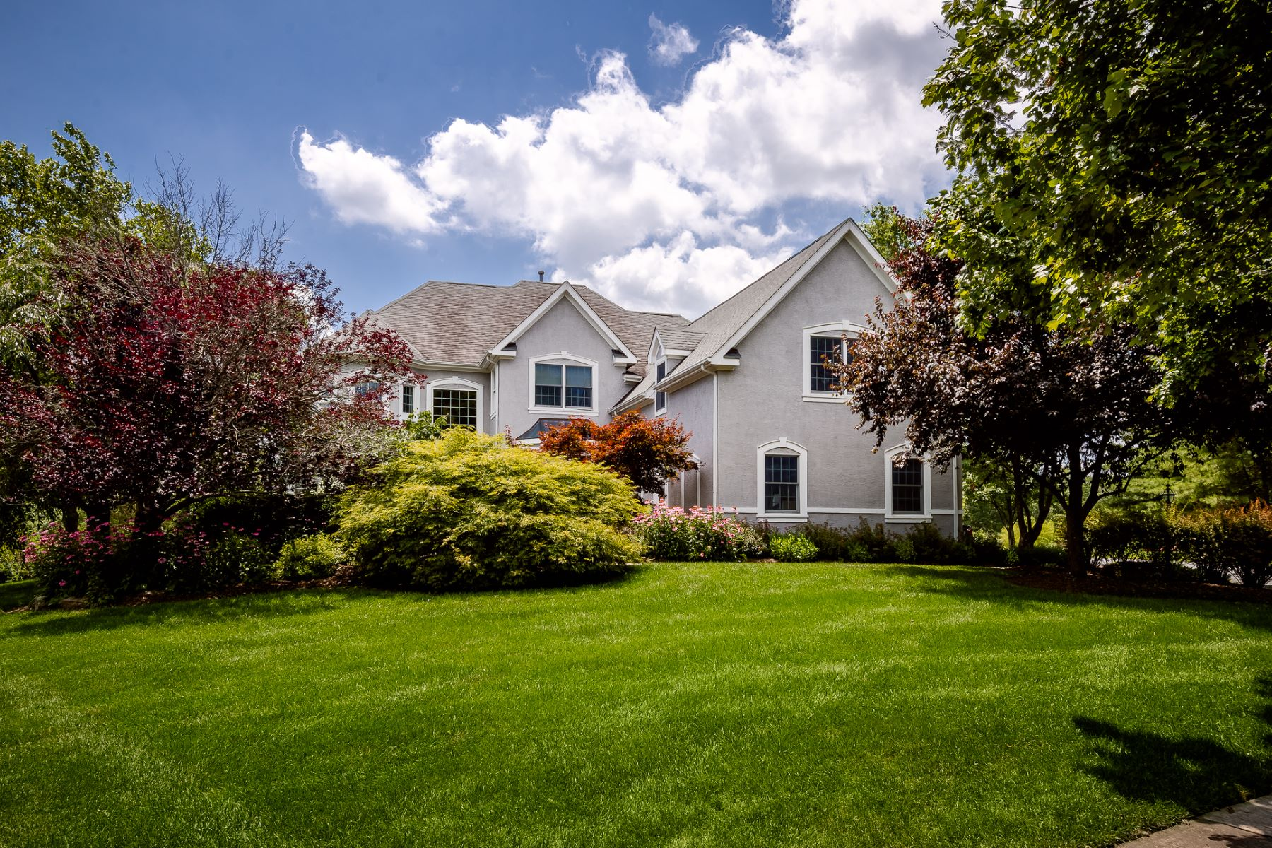 Single Family Homes for Sale at Beauty Surrounds This Custom Cherry Valley Country Club Colonial 7 Kittansett Court, Skillman, New Jersey 08558 United States