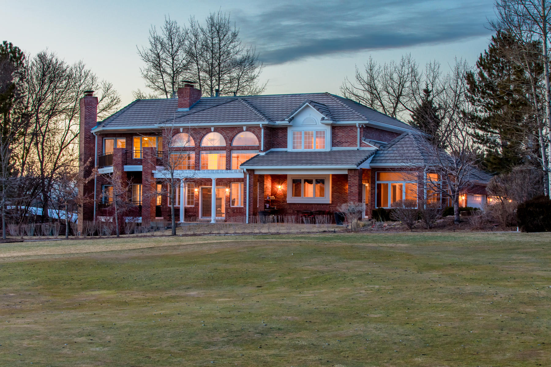 Single Family Home for Active at Spectacular Waterfront & Golf Course Setting 71 Glenmoor Drive Cherry Hills Village, Colorado 80113 United States