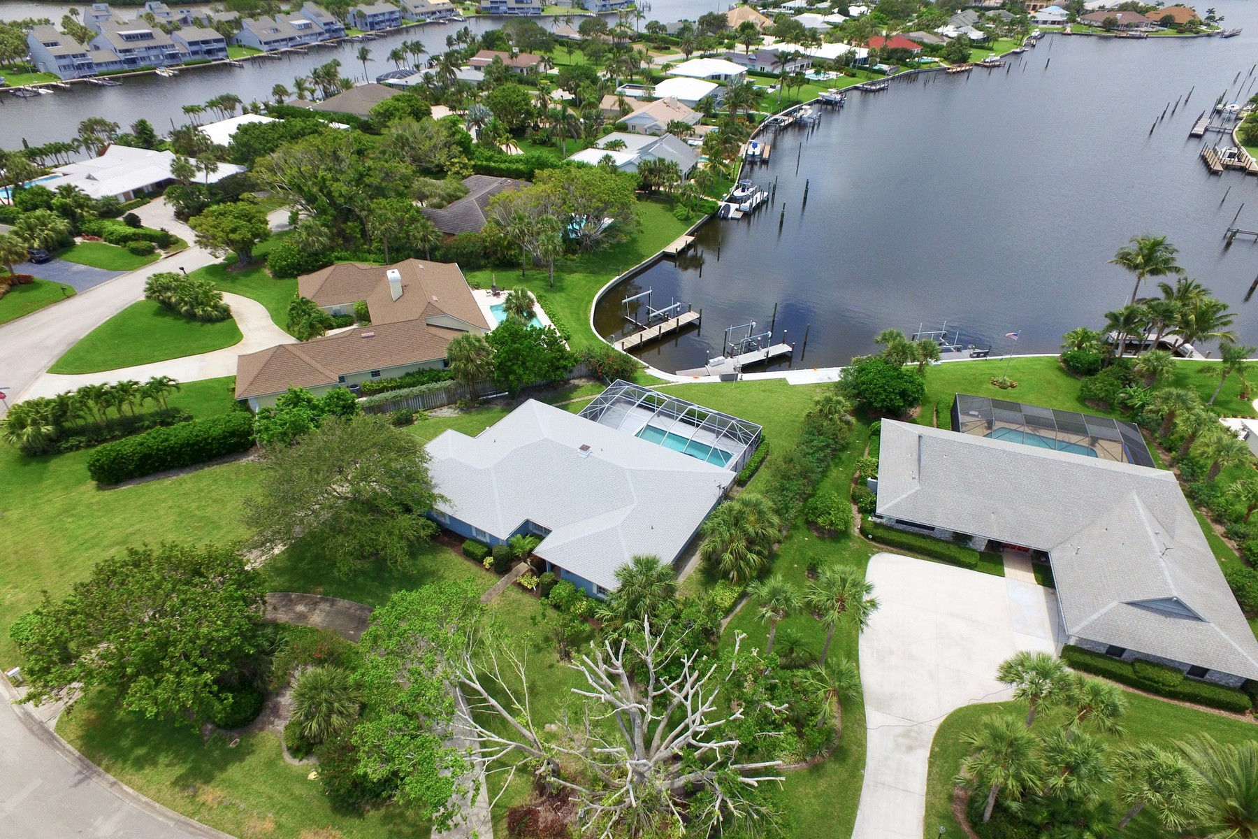 Single Family Home for Sale at Waterfront Pool Home on Almost One Half Acre 1175 Bowline Drive Vero Beach, Florida 32963 United States