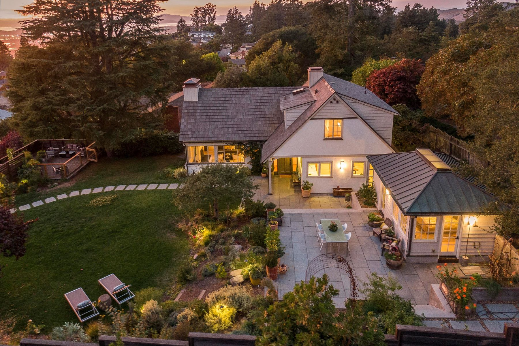 Single Family Homes for Active at Stunning Home - Private Setting - Bay Views 889 Creston Road Berkeley, California 94708 United States