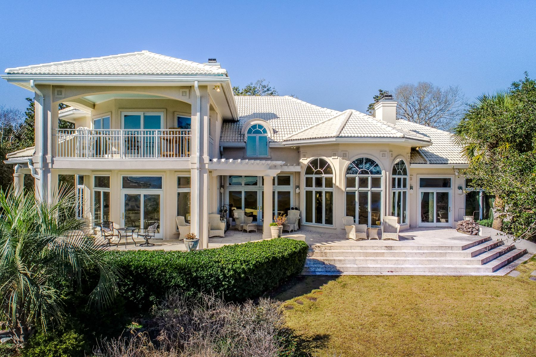 Single Family Homes for Sale at Classic Mediterranean-Style Home With Intracoastal Views 1051 Ocean Ridge Drive Wilmington, North Carolina 28405 United States