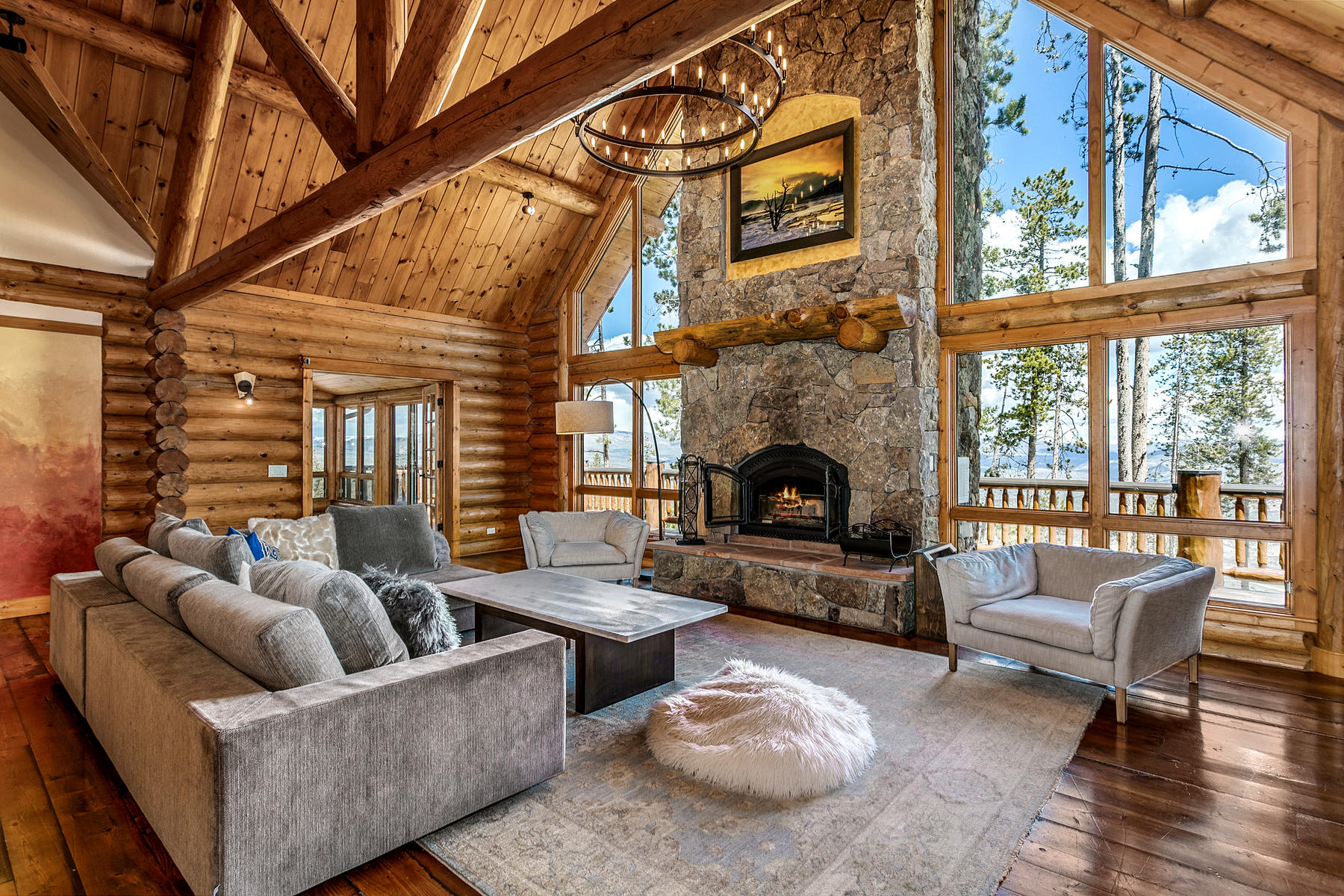 Single Family Homes for Active at Custom Log Home on Bellyache Ridge 510 Big Dipper Road Wolcott, Colorado 81655 United States