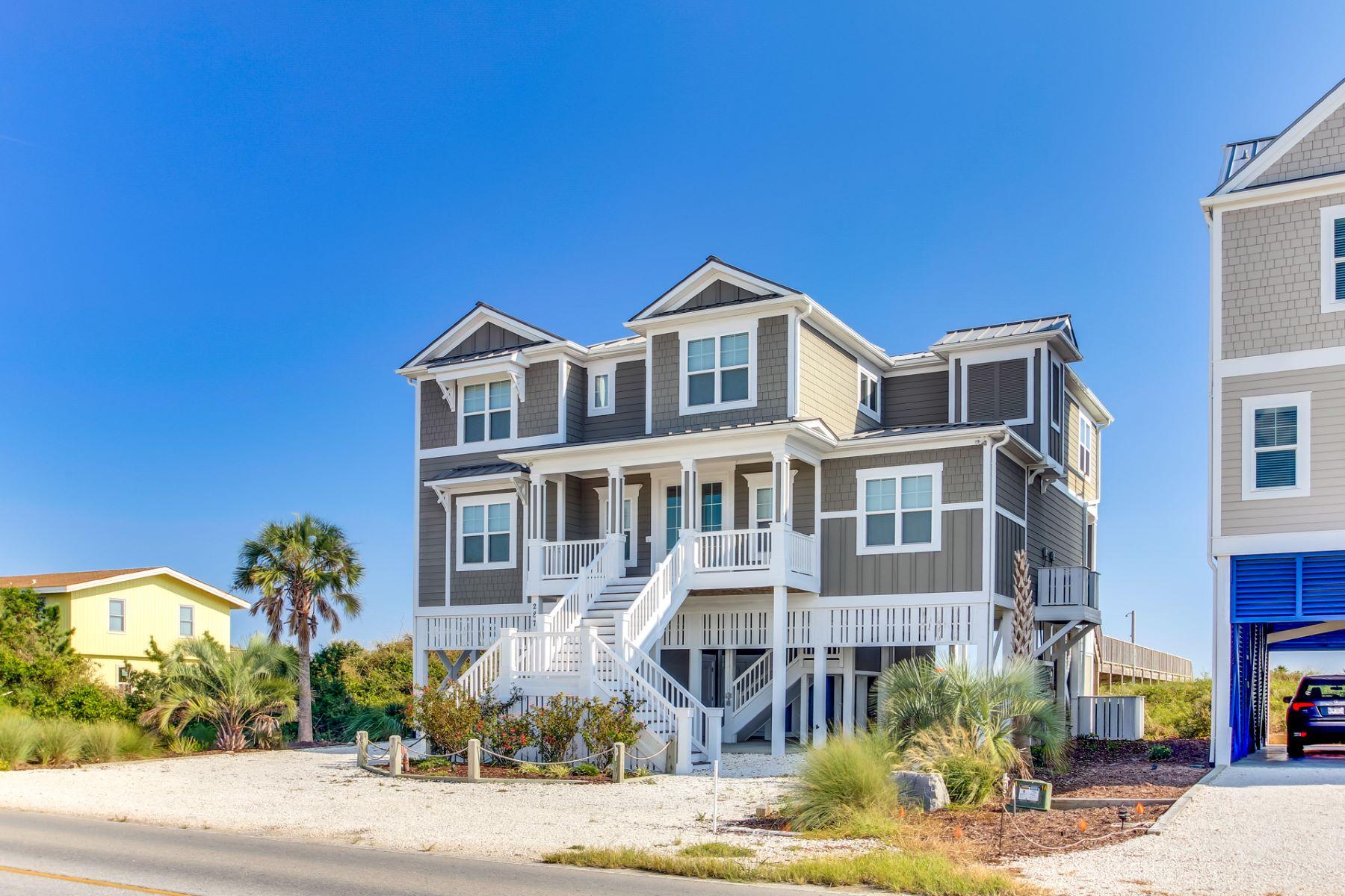 Single Family Homes vì Bán tại Luxury Ocean Front Home 287 Ocean Boulevard W., Holden Beach, Bắc Carolina 28462 Hoa Kỳ