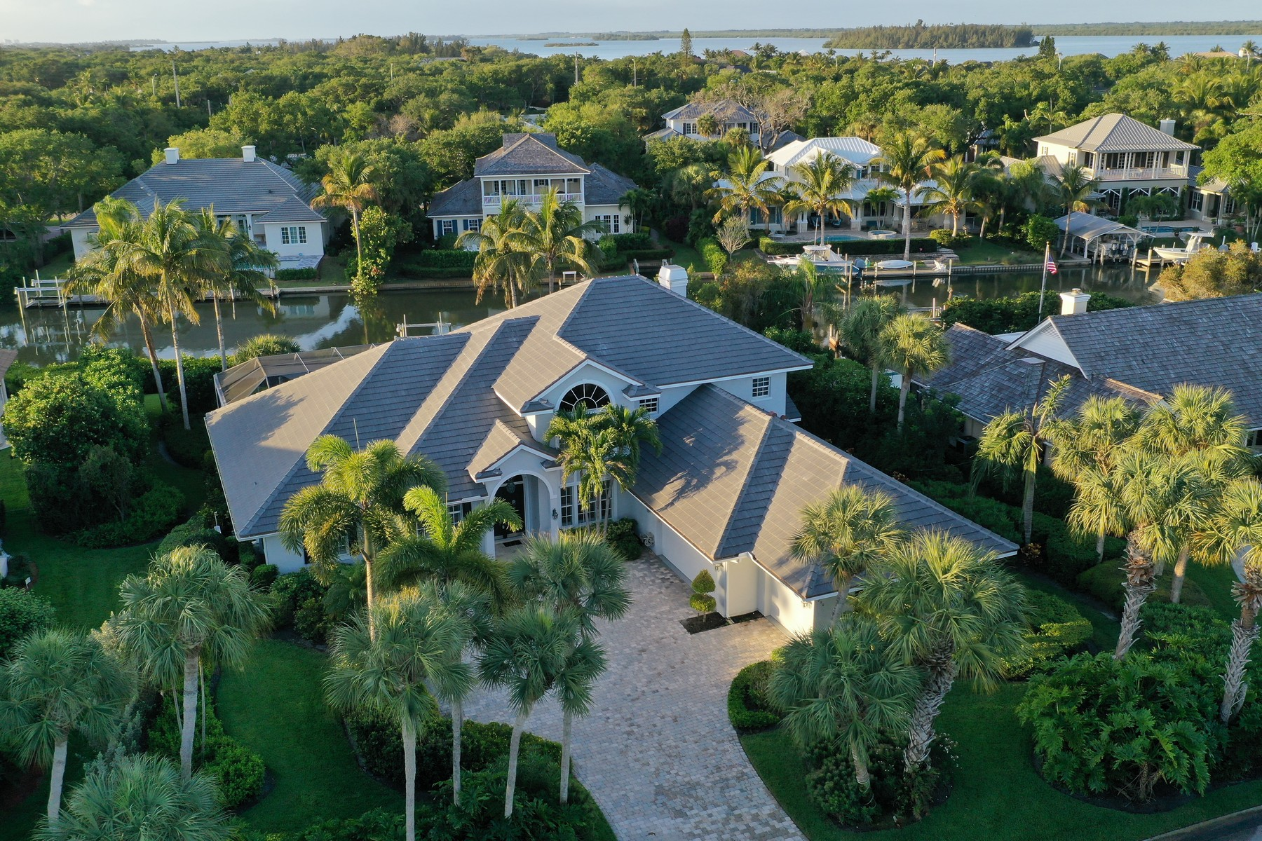 Single Family Homes for Sale at Riverfront, Pool, Gourmet Kitchen, Three Car Garage 730 Lagoon Rd Vero Beach, Florida 32963 United States