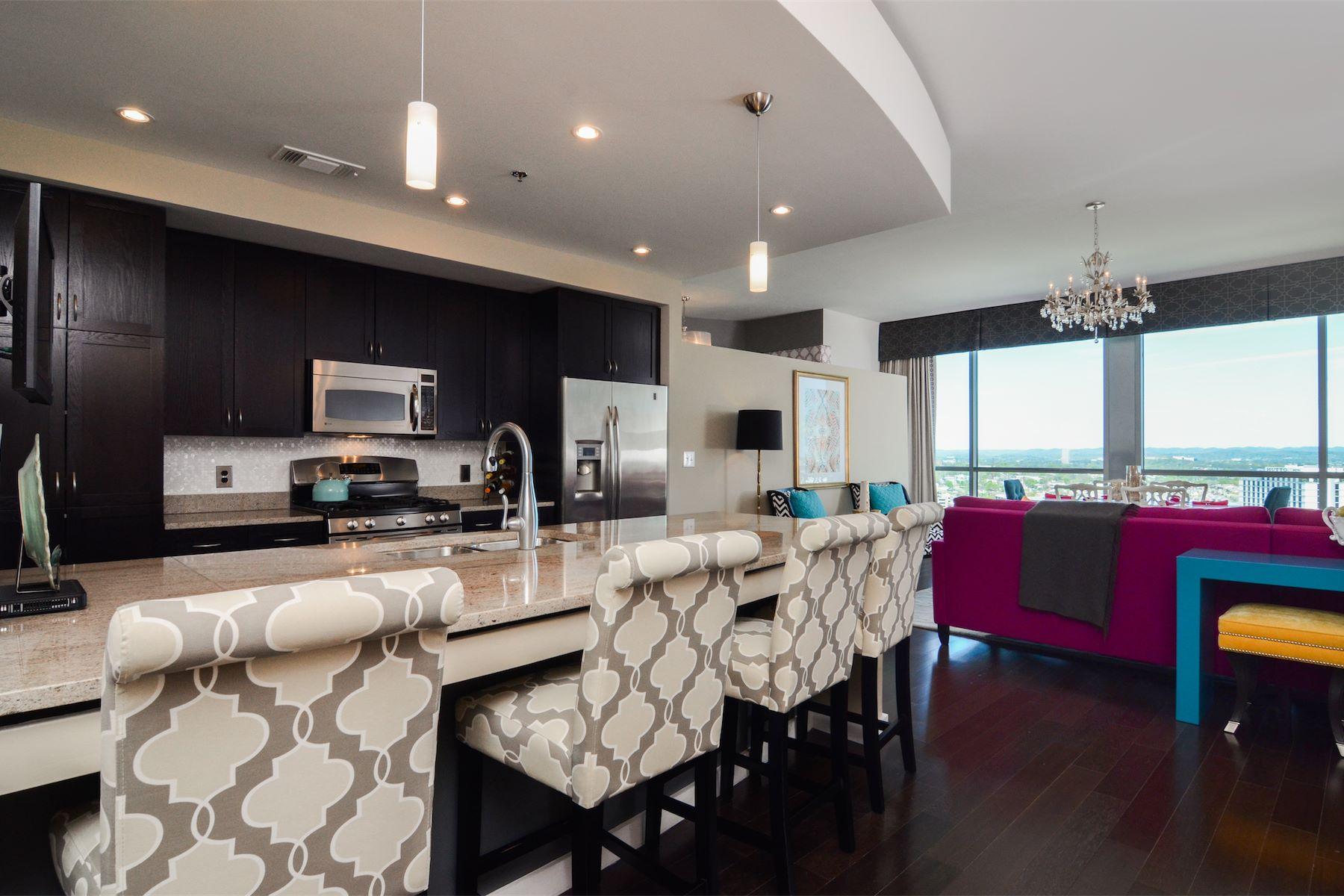 Condominium for Sale at Stunning Adelicia Condo 900 20th Avenue South Apartment 1509 Nashville, Tennessee, 37212 United States