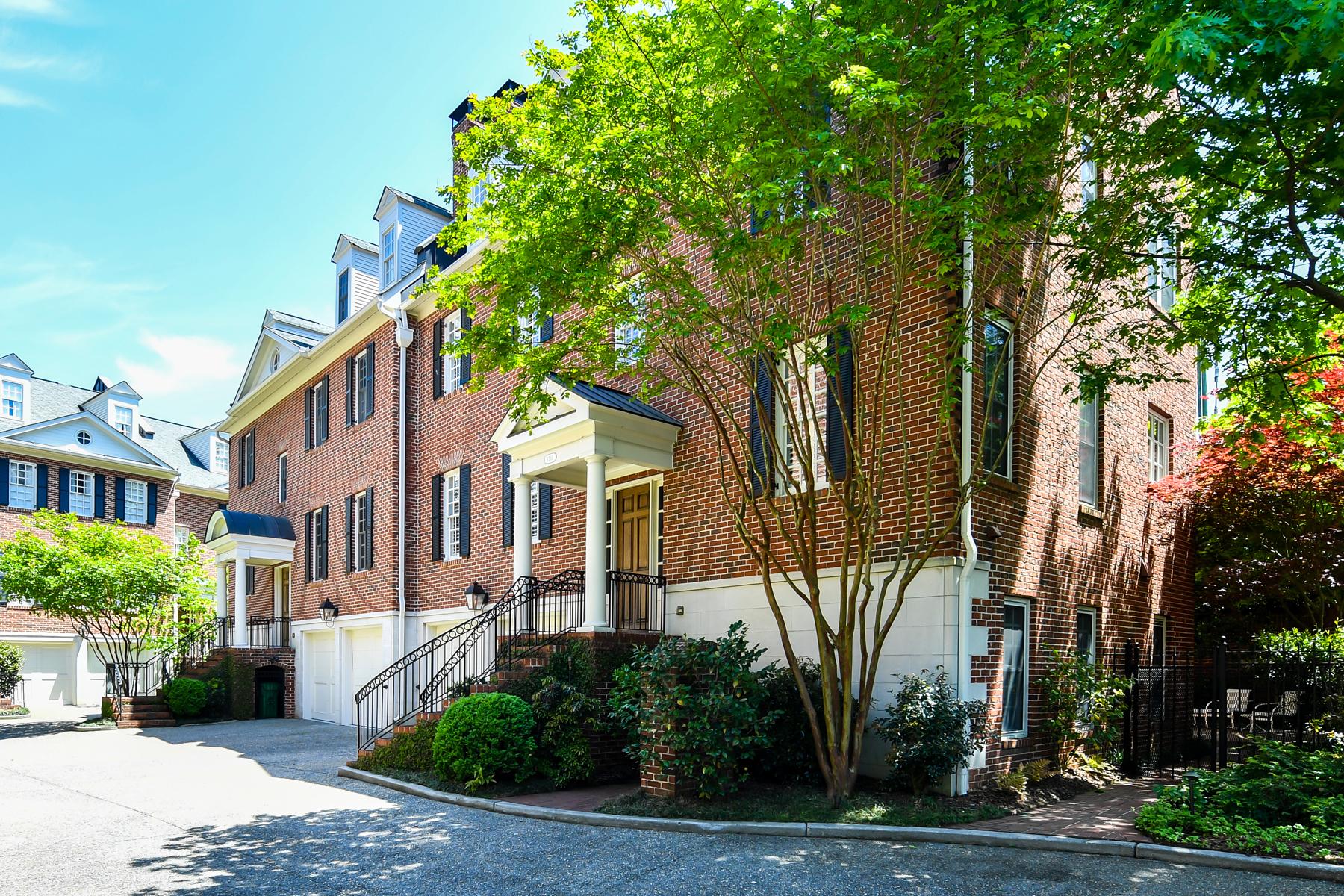 타운하우스 용 매매 에 Luxury Brownstone In Gated Community In Historic Brookhaven 1266 Bellaire Lane Brookhaven, 조지아 30319 미국