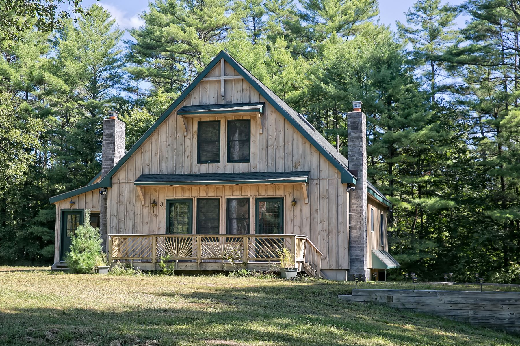 Single Family Homes for Active at Custom Adirondack Chalet 8 Locarno St Lake Luzerne, New York 12846 United States