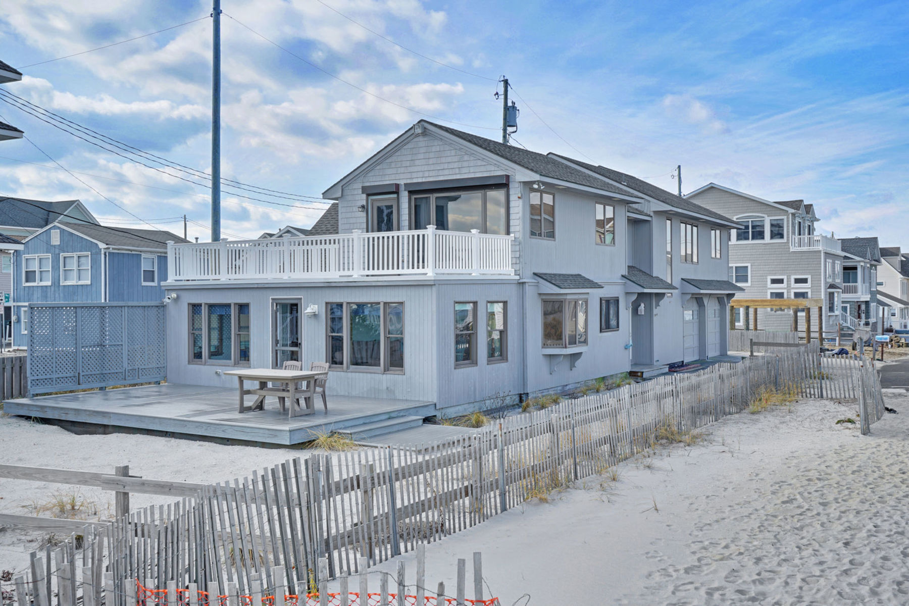 Single Family Home for Sale at Quintessential Oceanfront Custom Built Home 11 S Surf Road, Lavallette, New Jersey 08735 United States