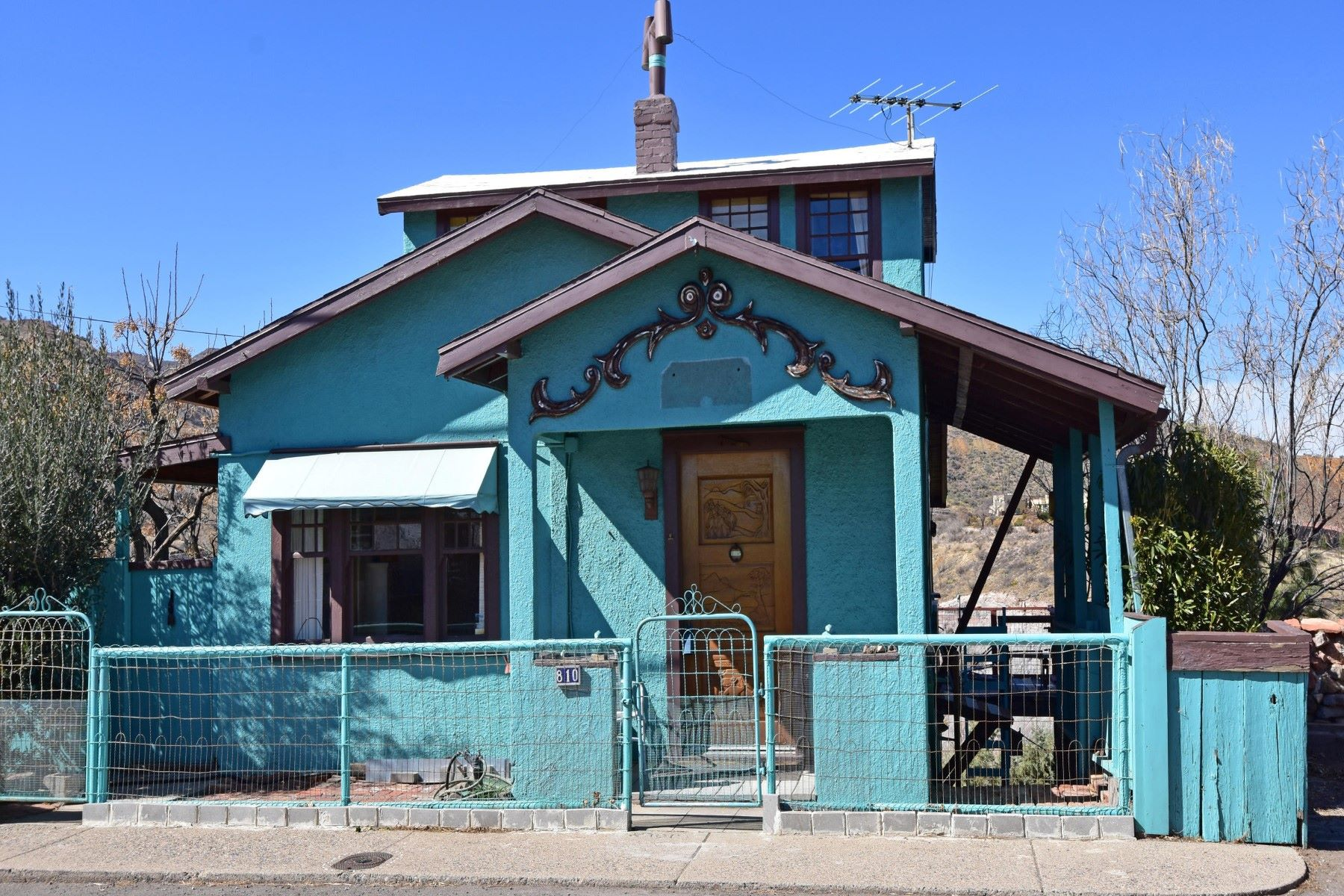 Single Family Home for Sale at A True Jerome Icon 810 Hampshire Ave, Jerome, Arizona, 86331 United States