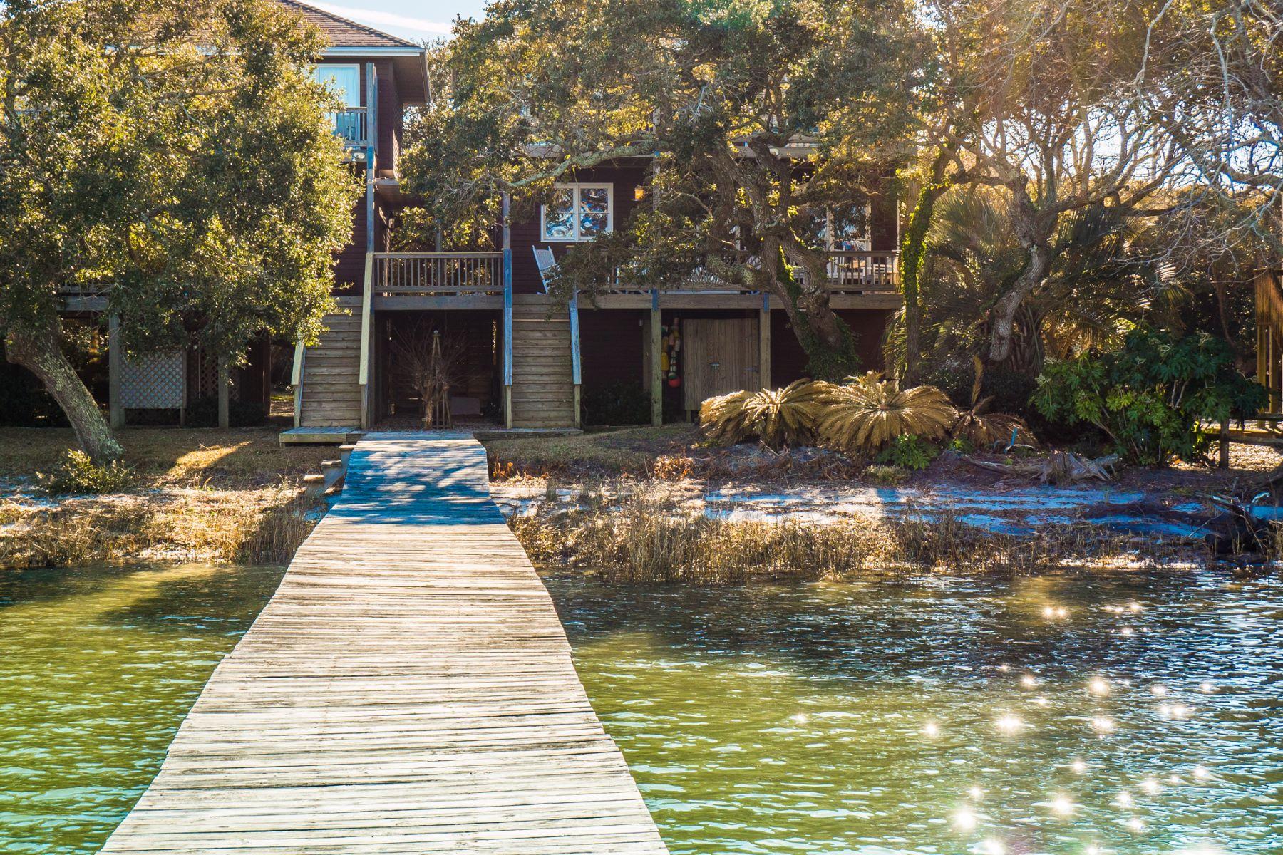 واحد منزل الأسرة للـ Sale في Enchanting Sound Front Property on Topsail Island 2719 B S Shore Dr, Surf City, North Carolina, 28445 United States