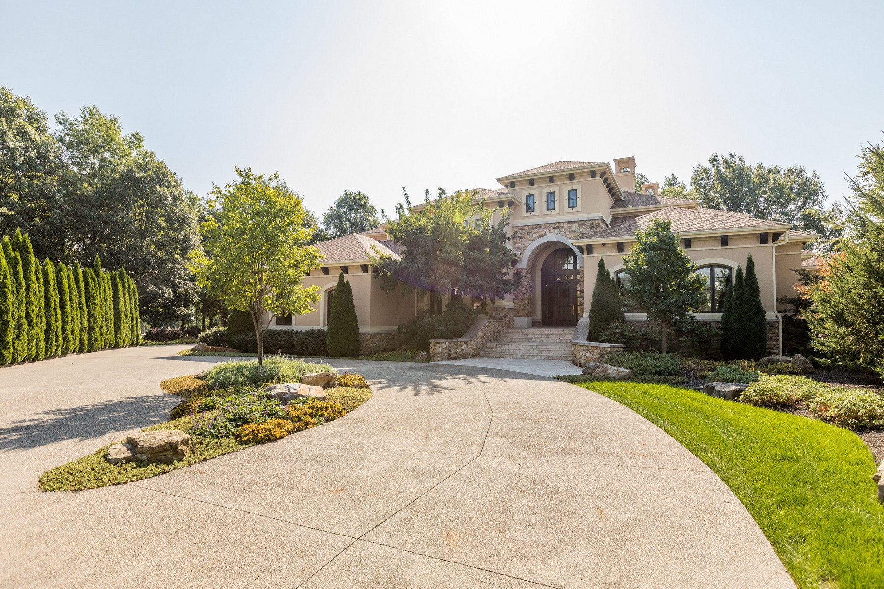 single family homes for Active at Beautiful Mediterranean Estate 15395 Whistling Ln Carmel, Indiana 46033 United States