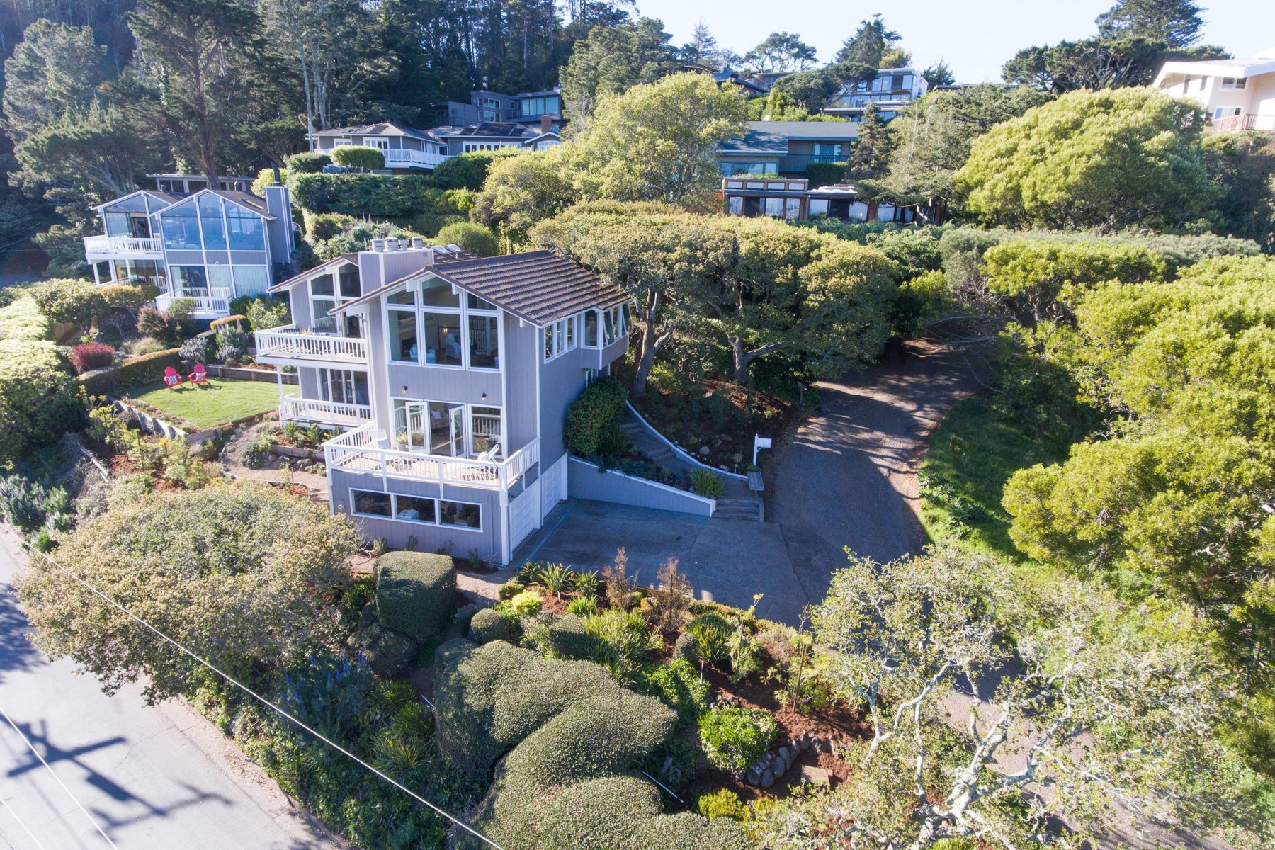 단독 가정 주택 용 매매 에 Entertaining Sausalito Views 114 Prospect Avenue Sausalito, 캘리포니아, 94965 미국
