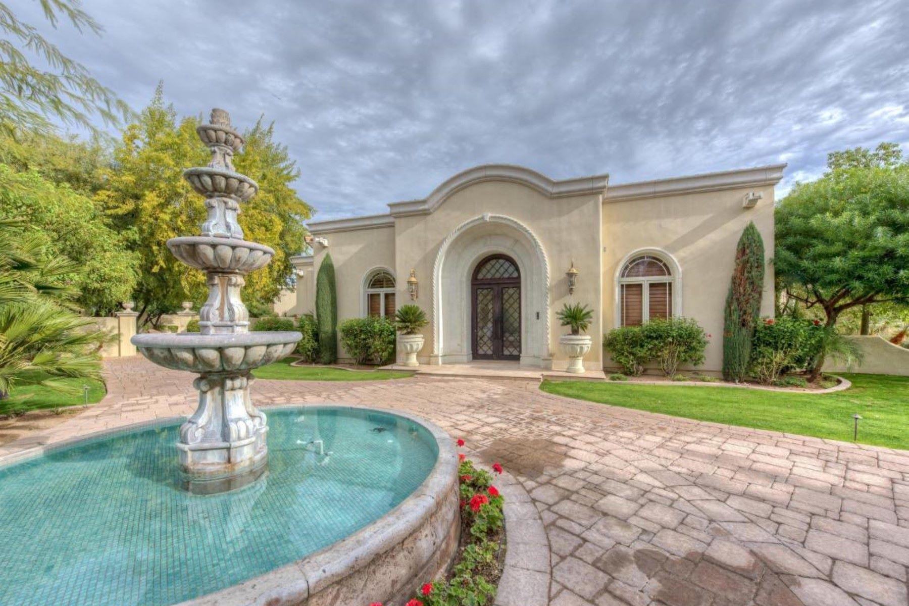 獨棟家庭住宅 為 出售 在 gorgeous Mediterranean estate 4900 E DESERT FAIRWAYS DRIVE, Paradise Valley, 亞利桑那州, 85253 美國