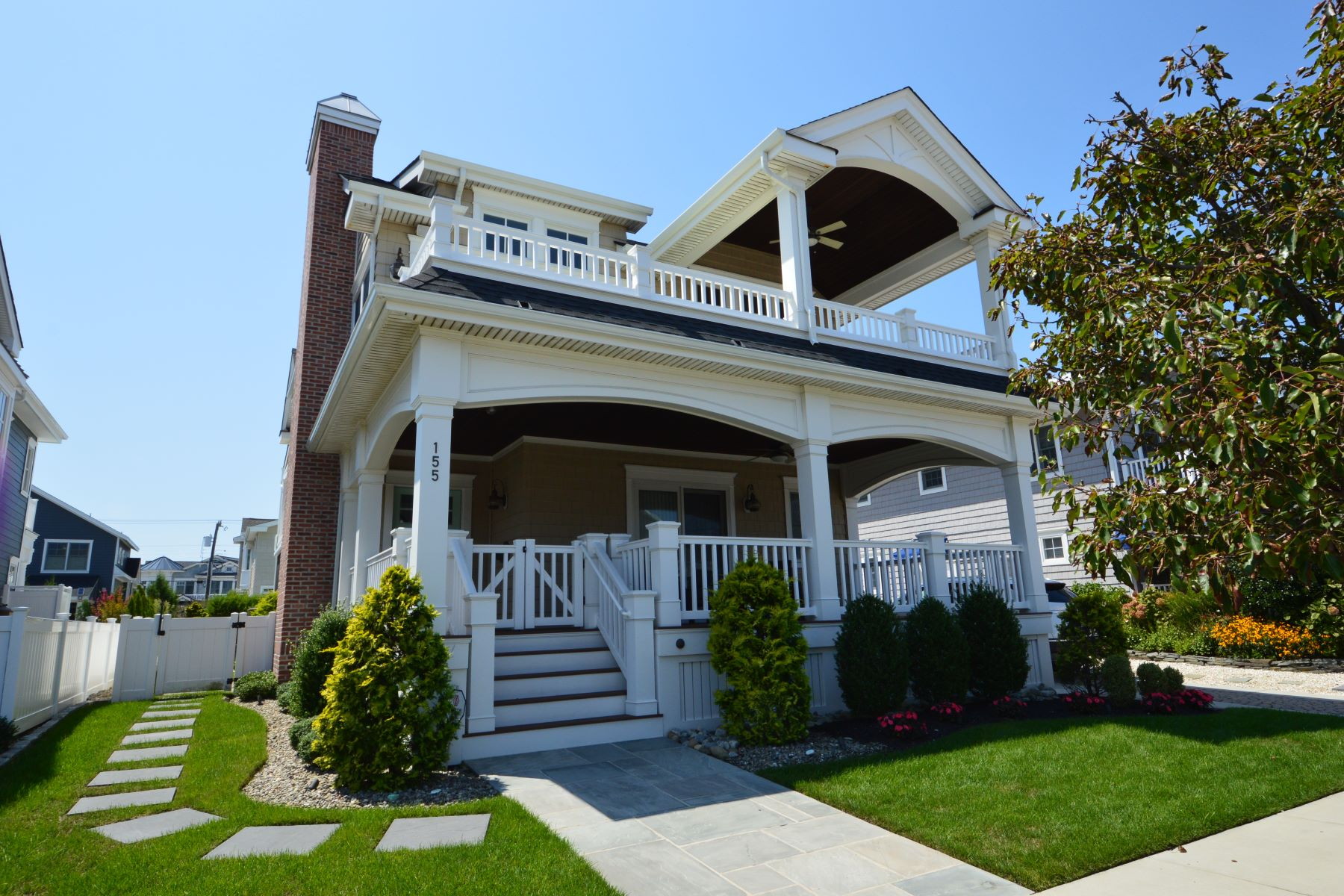 Single Family Homes for Sale at Spectacular Beach Residence 155 98th Street Stone Harbor, New Jersey 08247 United States