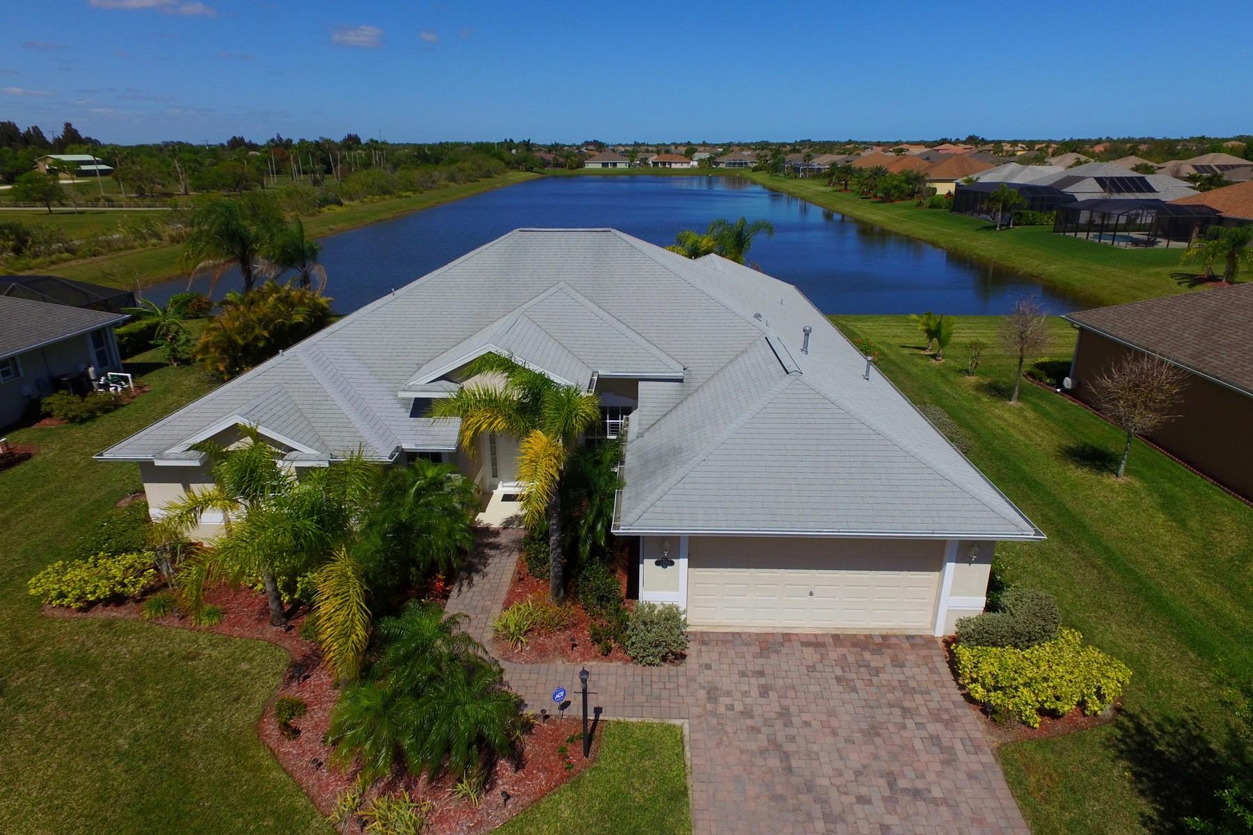 Частный односемейный дом для того Продажа на When You Just Want Extra - 4 Bedroom Plus Office! 1225 South Lakes Way SW, Vero Beach, Флорида, 32968 Соединенные Штаты