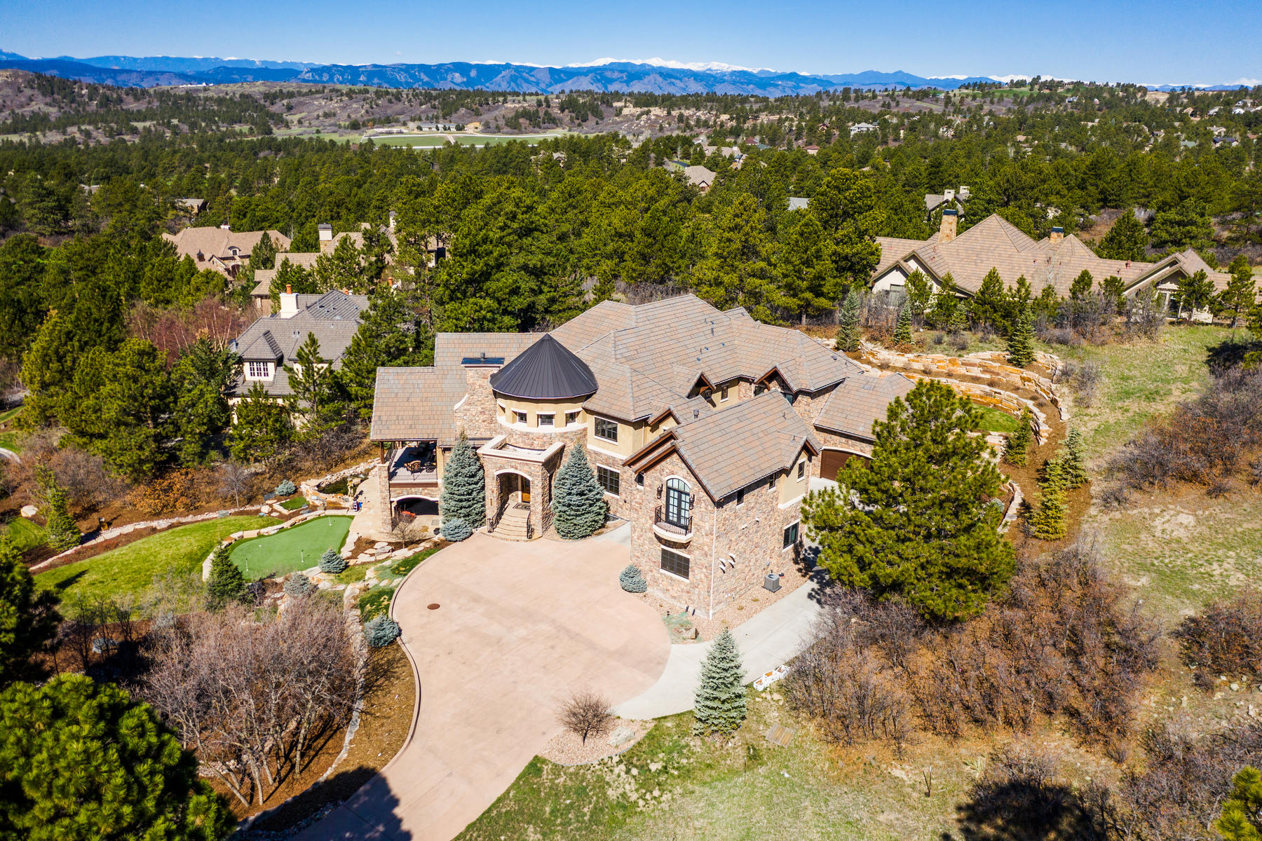 Single Family Homes for Sale at When custom elegance blends perfectly with beautiful, natural surroundings! 989 Preston Court Castle Rock, Colorado 80108 United States