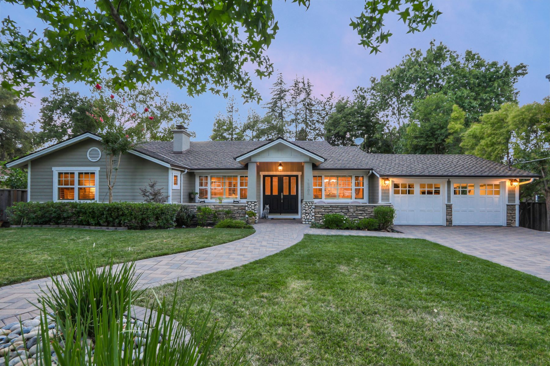 Single Family Homes for Sale at Stunning Craftsman Home in Los Gatos 16385 Peacock Lane Los Gatos, California 95032 United States