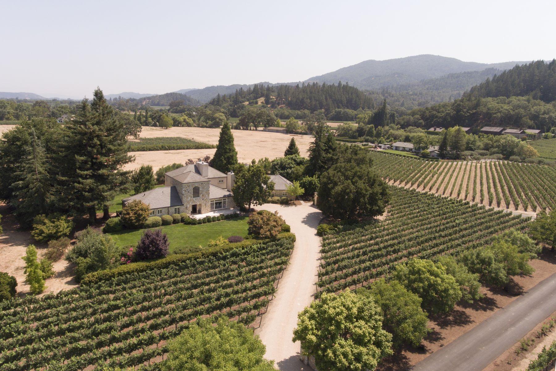 واحد منزل الأسرة للـ Sale في Luxury Estate in the Rutherford Dust 1871 Cabernet Lane St. Helena, California 94574 United States