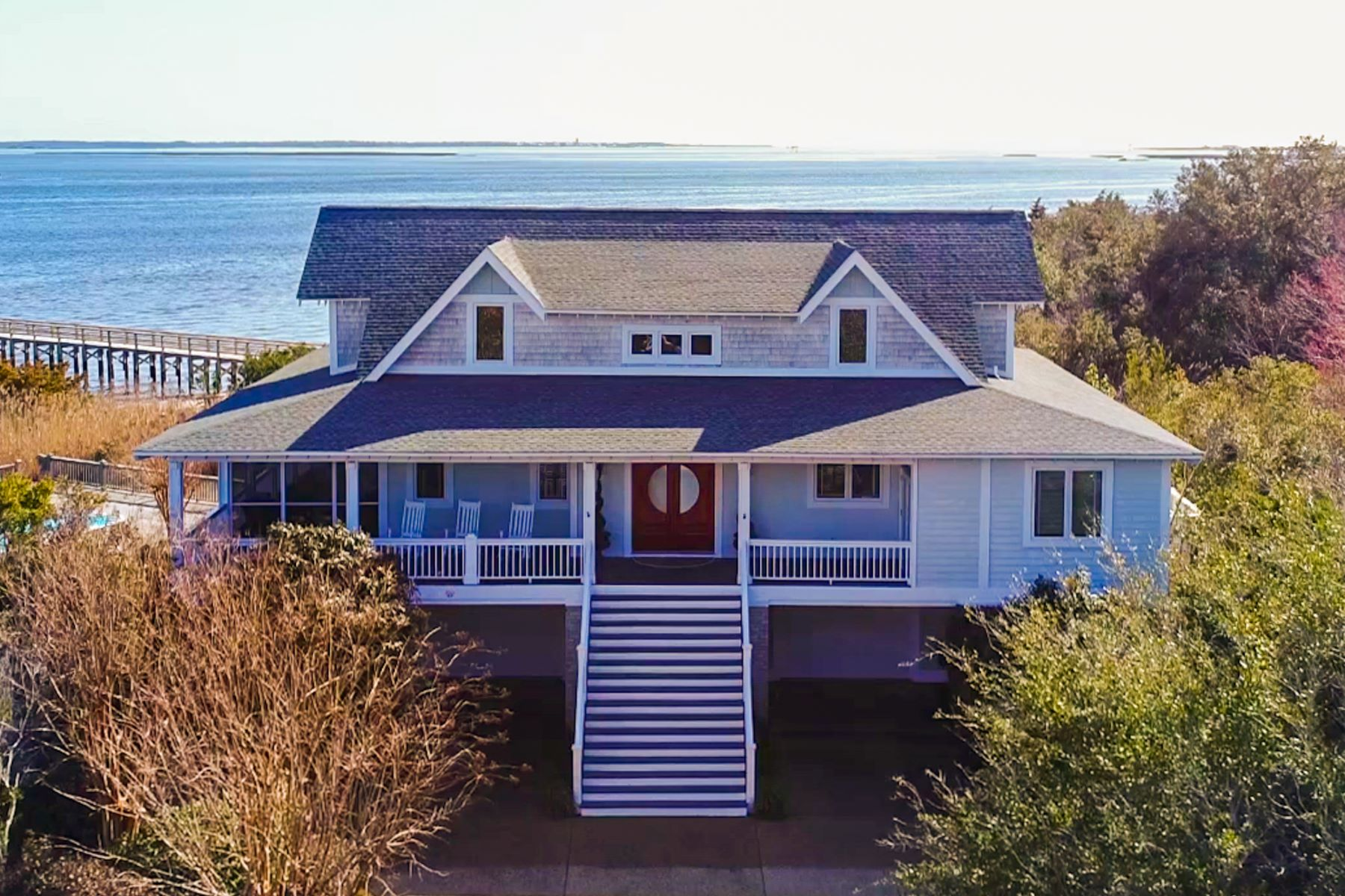 Single Family Home for Sale at Spectacular Waterfront Home with Privacy 6249 Pebble Shore Lane Southport, North Carolina 28461 United States