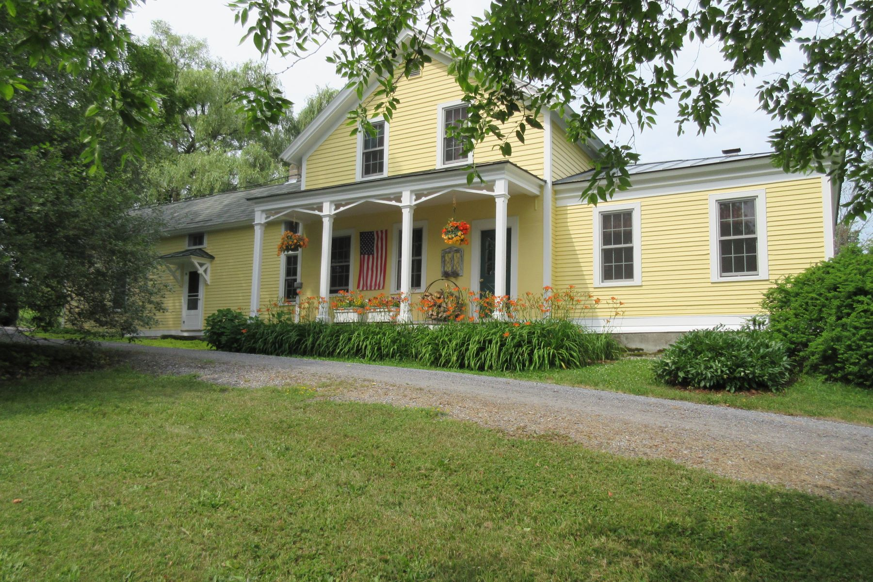 Single Family Homes for Sale at Quintessential New England farmhouse in Shoreham 57 Lapham Bay Rd Shoreham, Vermont 05770 United States