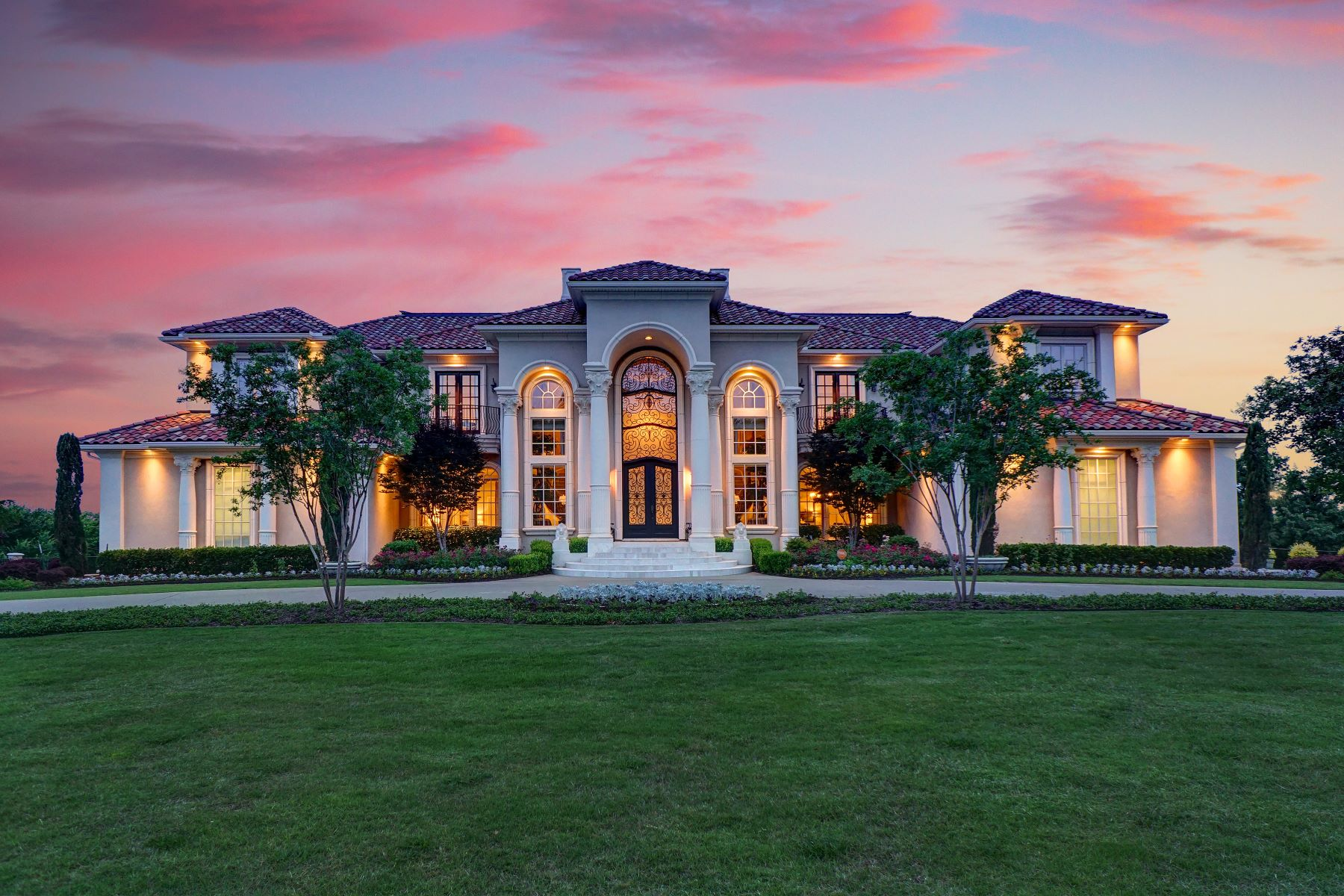 Single Family Homes for Sale at Mediterranean Masterpiece is one of the finest estate homes in Dallas-Fort Worth 2324 Panorama Court Arlington, Texas 76016 United States