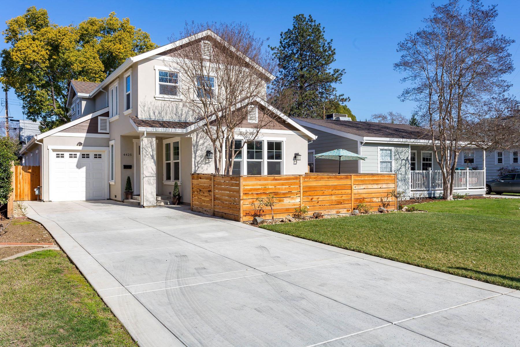 Частный односемейный дом для того Продажа на Stunning New Construction 4425 H Street, Sacramento, Калифорния, 95819 Соединенные Штаты