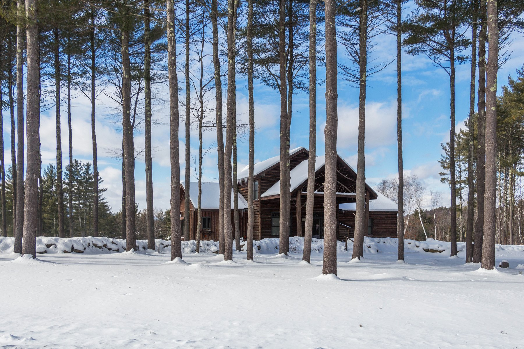 Additional photo for property listing at Adirondack Log Home Nestled on 5 Acres 29  Snowshoe Ridge Warrensburg, New York 12885 États-Unis