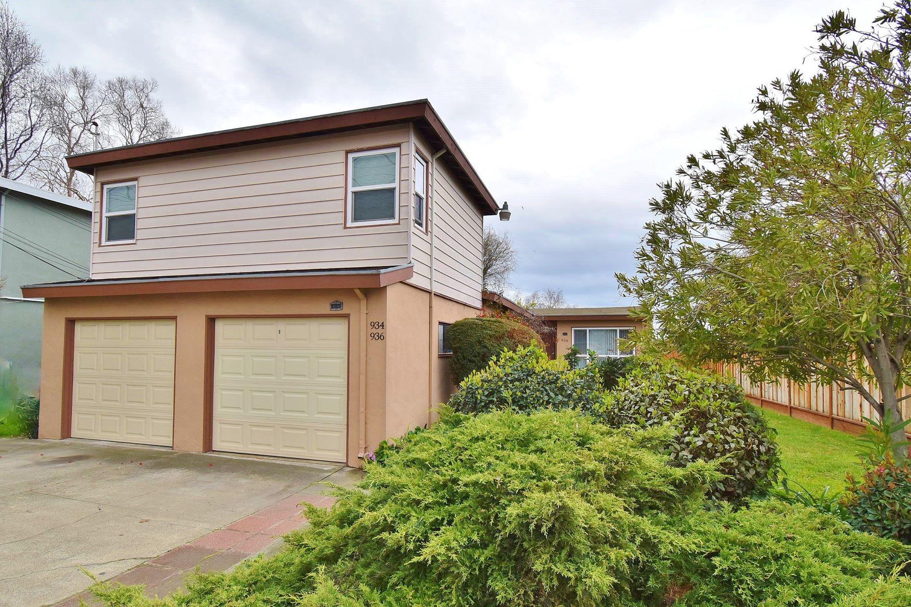 Duplex Homes por un Venta en Nicely Updated Duplex 936 Fargo Avenue San Leandro, California 94579 Estados Unidos