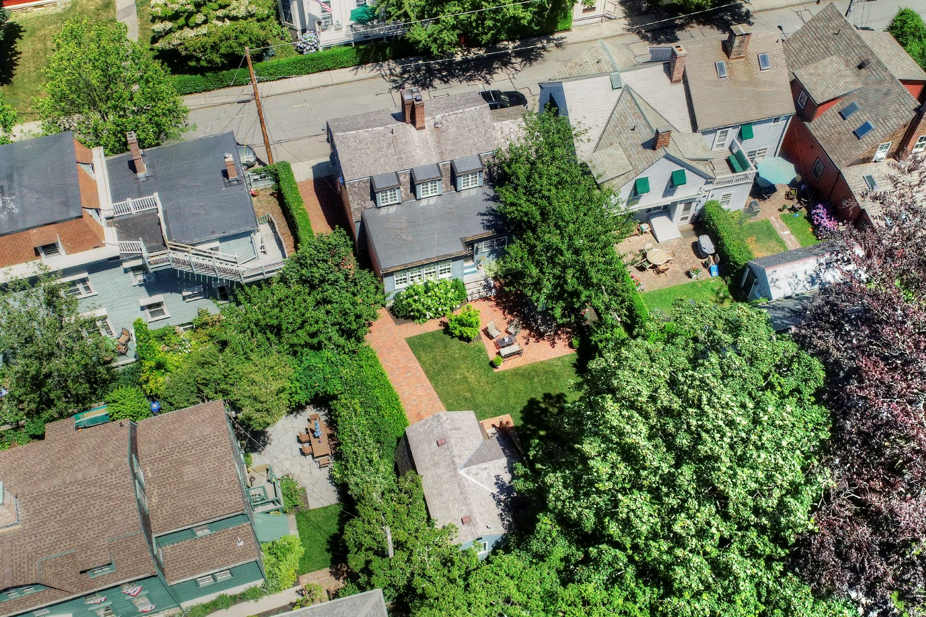 Additional photo for property listing at Renovated Colonial with Water Views 58 Poplar Street Newport, Rhode Island 02840 United States