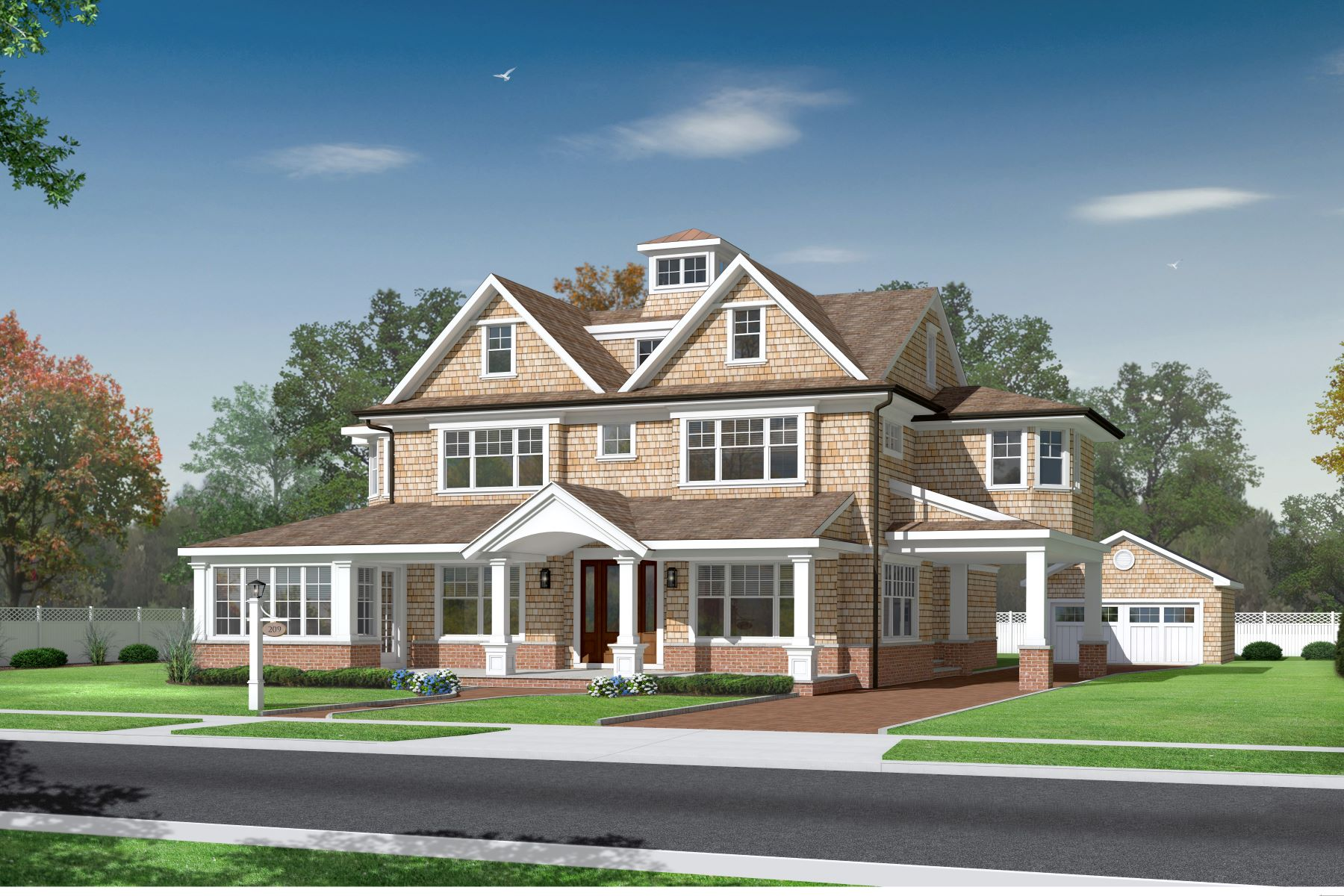 Single Family Homes for Sale at Spring Lake New Construction 209 Jersey Avenue Spring Lake, New Jersey 07762 United States
