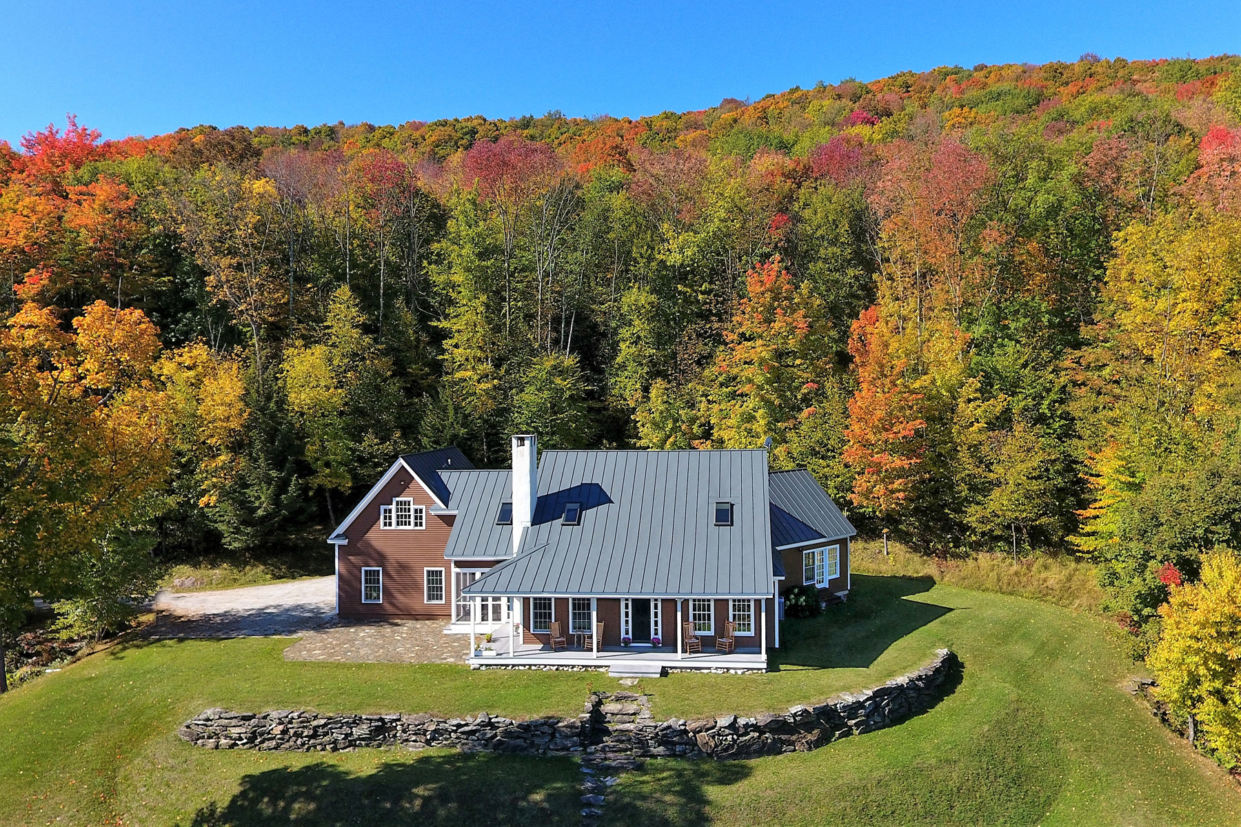 Single Family Homes for Sale at Gracious Home affords Seclusion, Serenity and Arch 394 Hounds Hill Lane Wallingford, Vermont 05773 United States