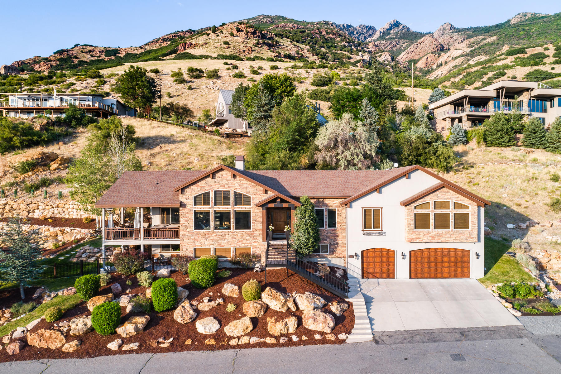 Single Family Homes for Active at Custom Built Mountain Home 3086 Silver Hawk Dr Holladay, Utah 84121 United States