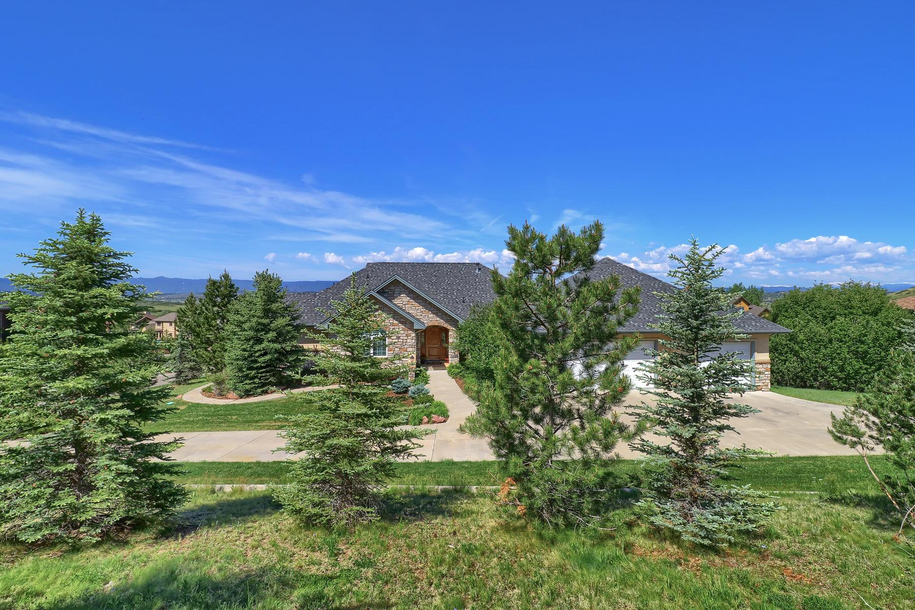 Single Family Home for Active at Captivatiing custom ranch style home 1361 Chalk Hill Pl Castle Rock, Colorado 80104 United States