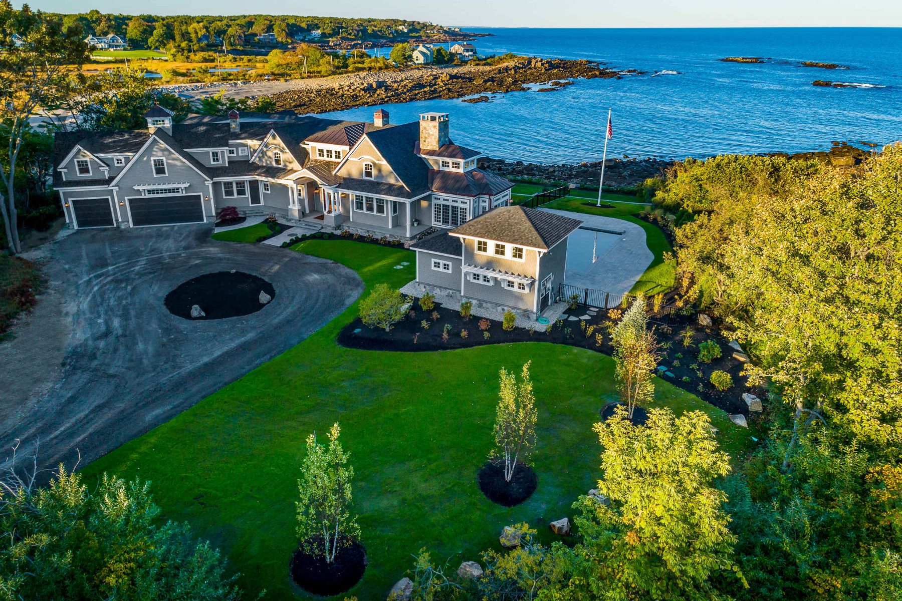 Single Family Homes for Sale at Extraordinary Oceanfront Estate in Cape Neddick 4 Bayberry Lane, York, Maine 03902 United States