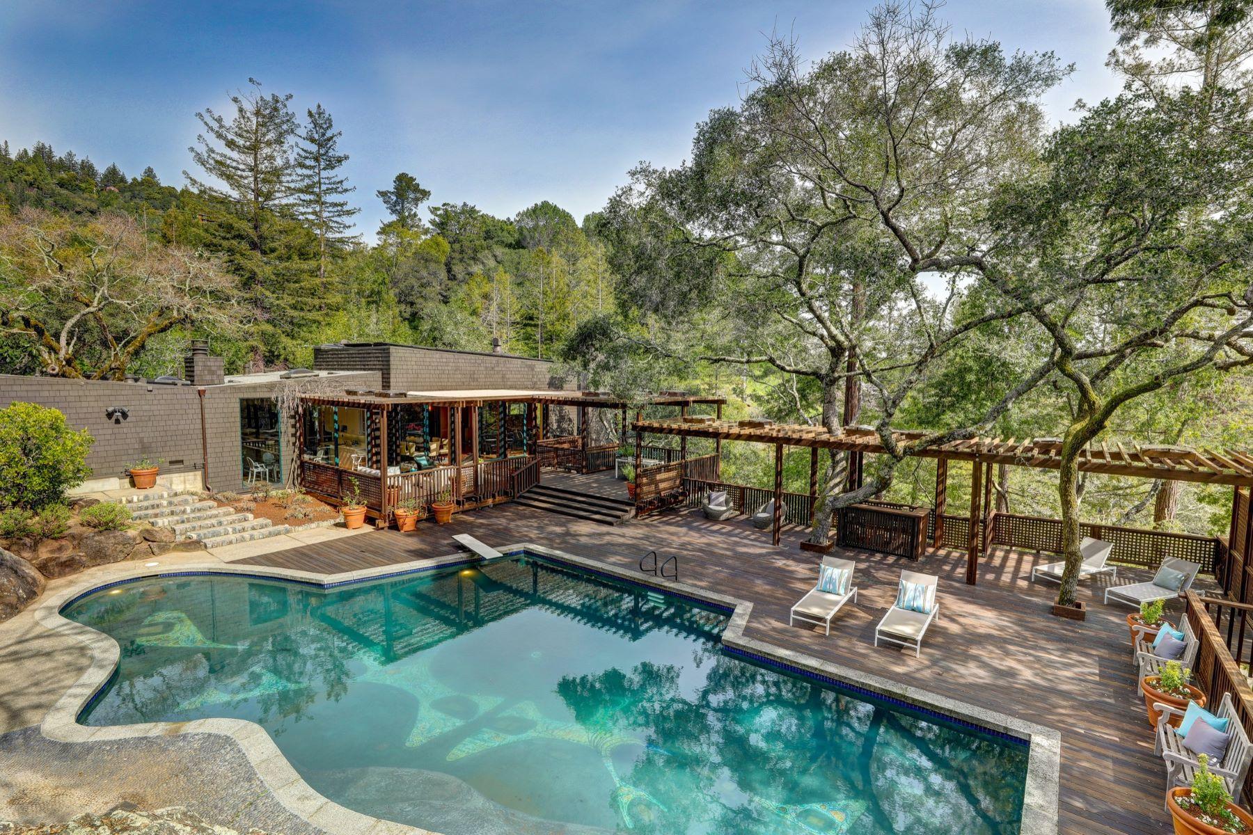 獨棟家庭住宅 為 出售 在 Kentfield Mid-Century Modern Masterpiece 445 Woodland Road Kentfield, 加利福尼亞州 94904 美國