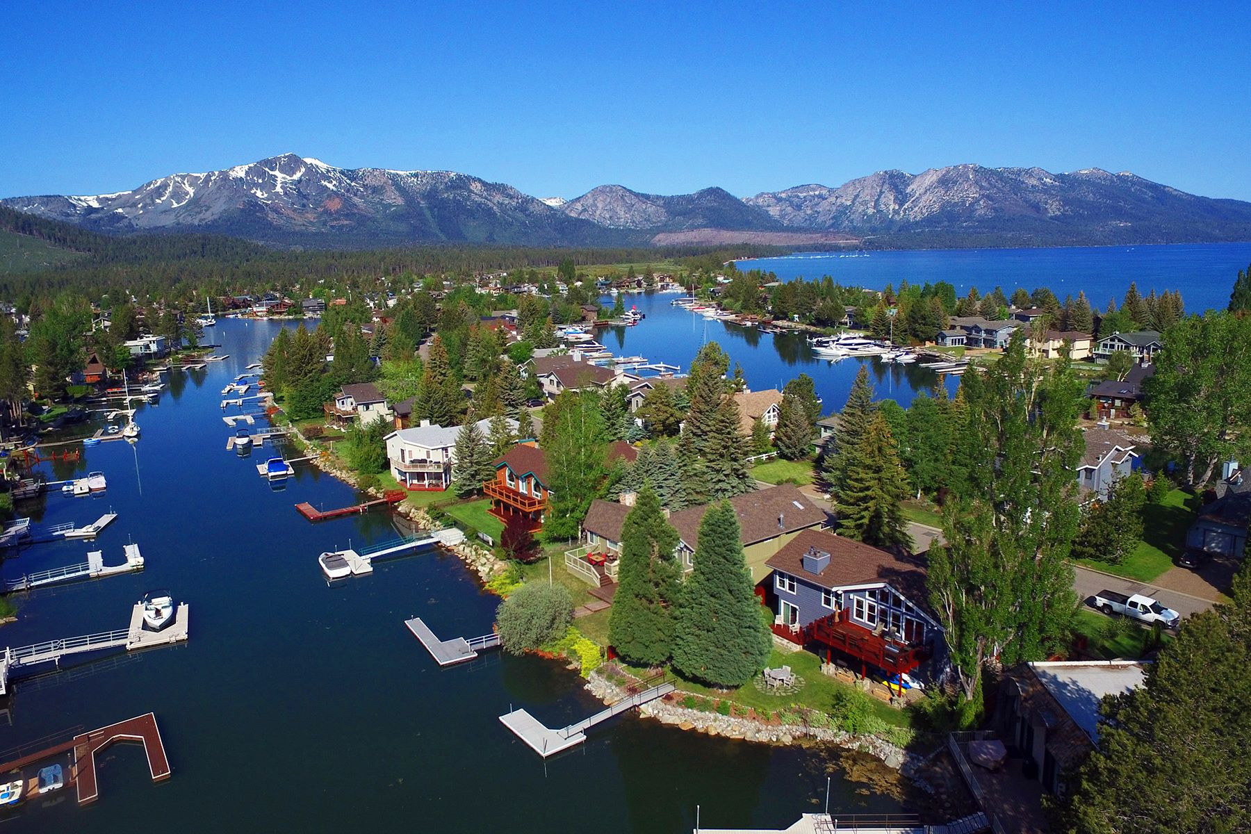 Single Family Home for Active at Waterfront Beauty in the Tahoe Keys 2246 White Sands Drive South Lake Tahoe, California 96150 United States