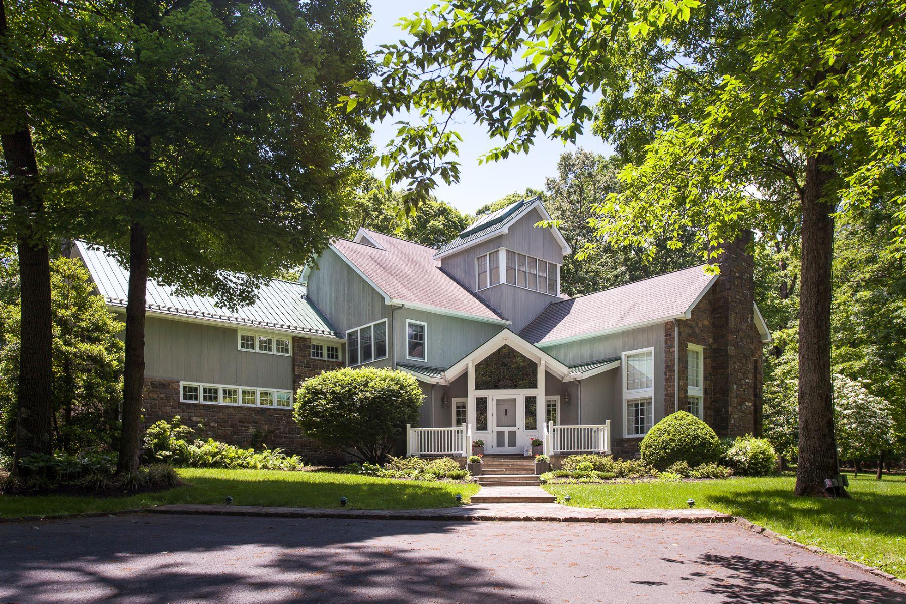 Частный односемейный дом для того Продажа на A Scenic Hillside Retreat Designed by Jim Hamilton 120 Province Line Road, Skillman, Нью-Джерси 08558 Соединенные ШтатыВ/Около: Hopewell Township