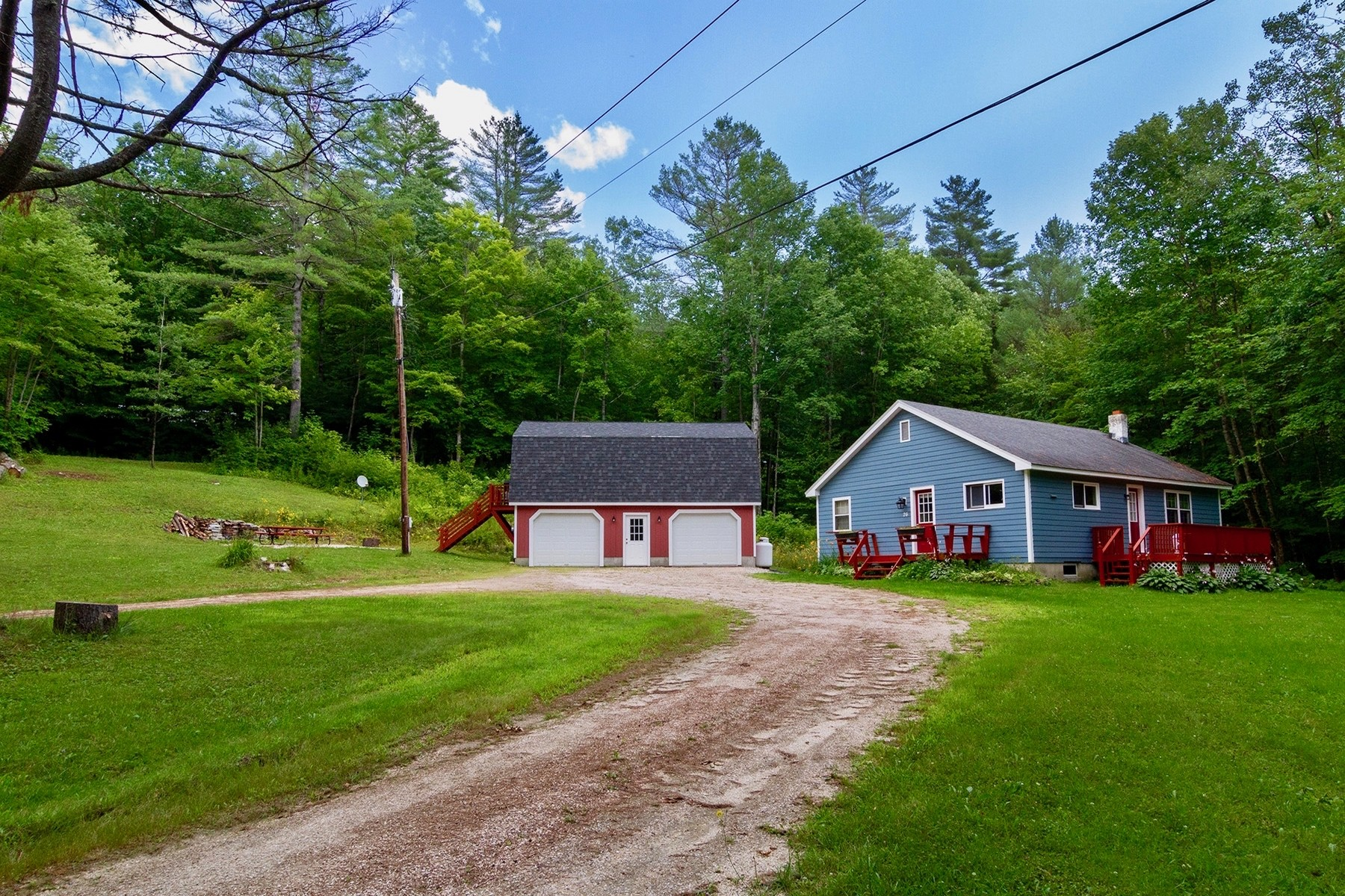 Single Family Homes for Sale at Easy Keeper Ranch with 2-Bay Garage/Apt 26 Hillside Road Plymouth, Vermont 05056 United States