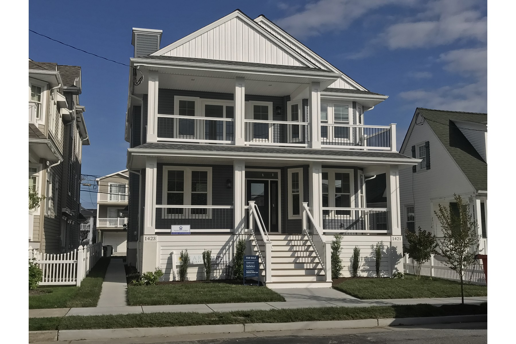 Duplex for Sale at New Construction Duplex 1421-23 Central Ave, Ocean City, New Jersey 08226 United States