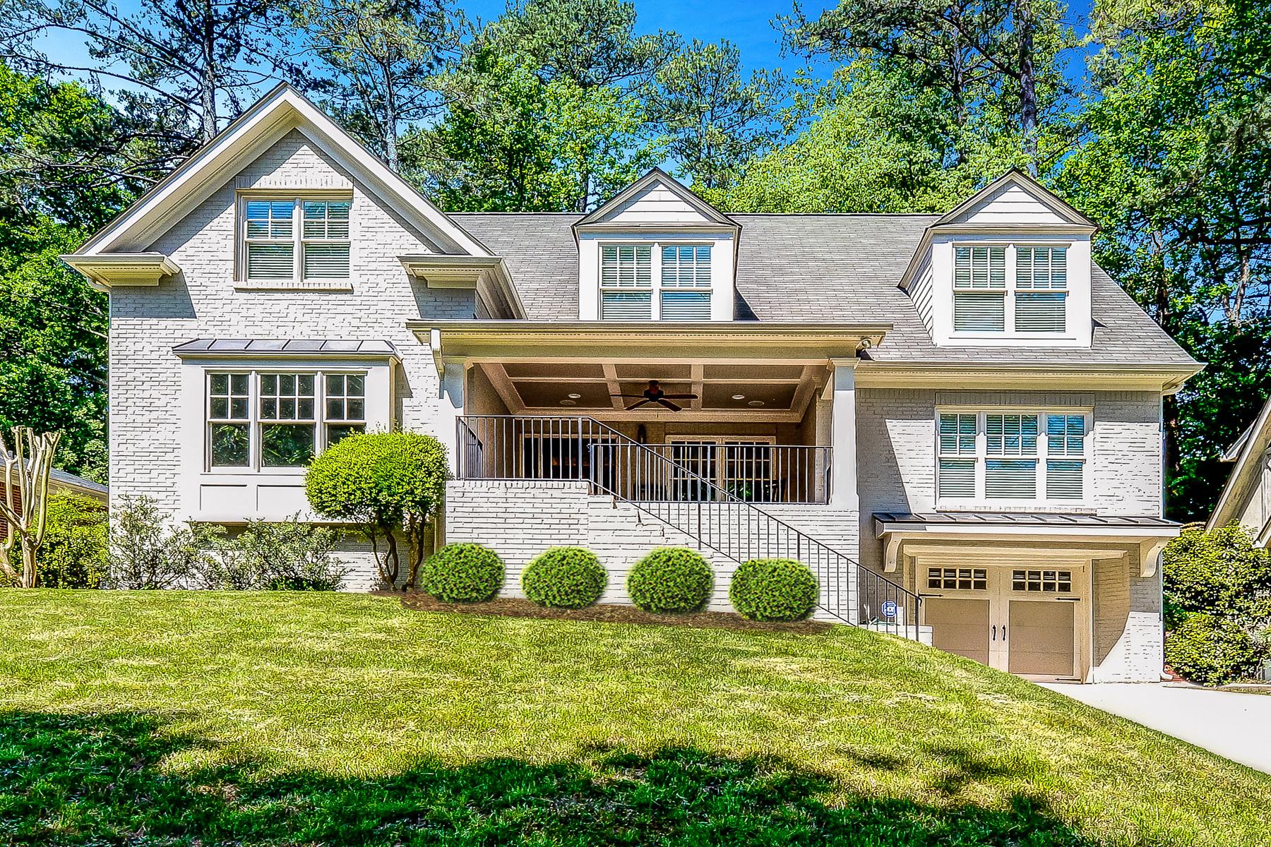 Single Family Home for Sale at Exceptional Total Renovation In Morningside 1370 Pasadena Avenue NE Atlanta, Georgia 30306 United States