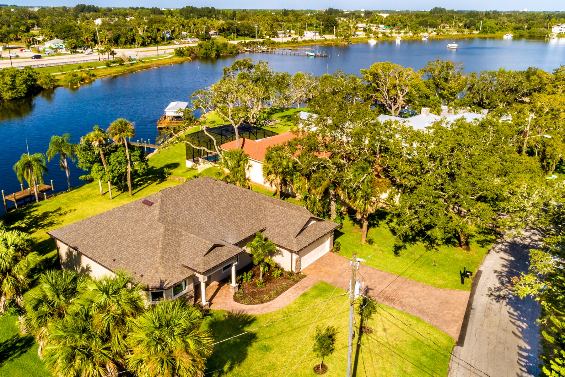 Single Family Homes for Active at Brand New Waterfront Home in Palm Bay Point 1434 Herndon Circle NE Palm Bay, Florida 32905 United States