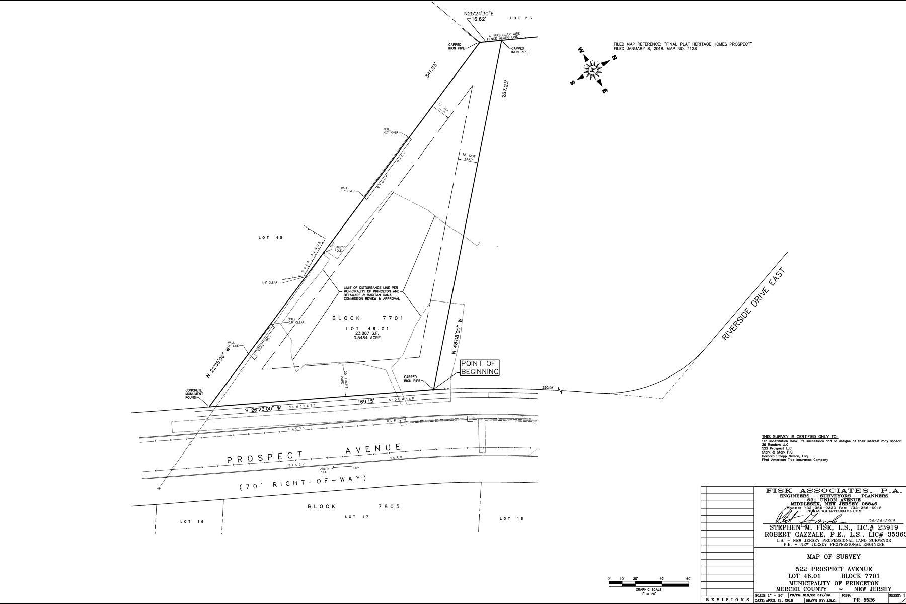 Property per Vendita alle ore Building Lot in Riverside Neighborhood 522 Prospect Avenue, Princeton, New Jersey 08540 Stati Uniti