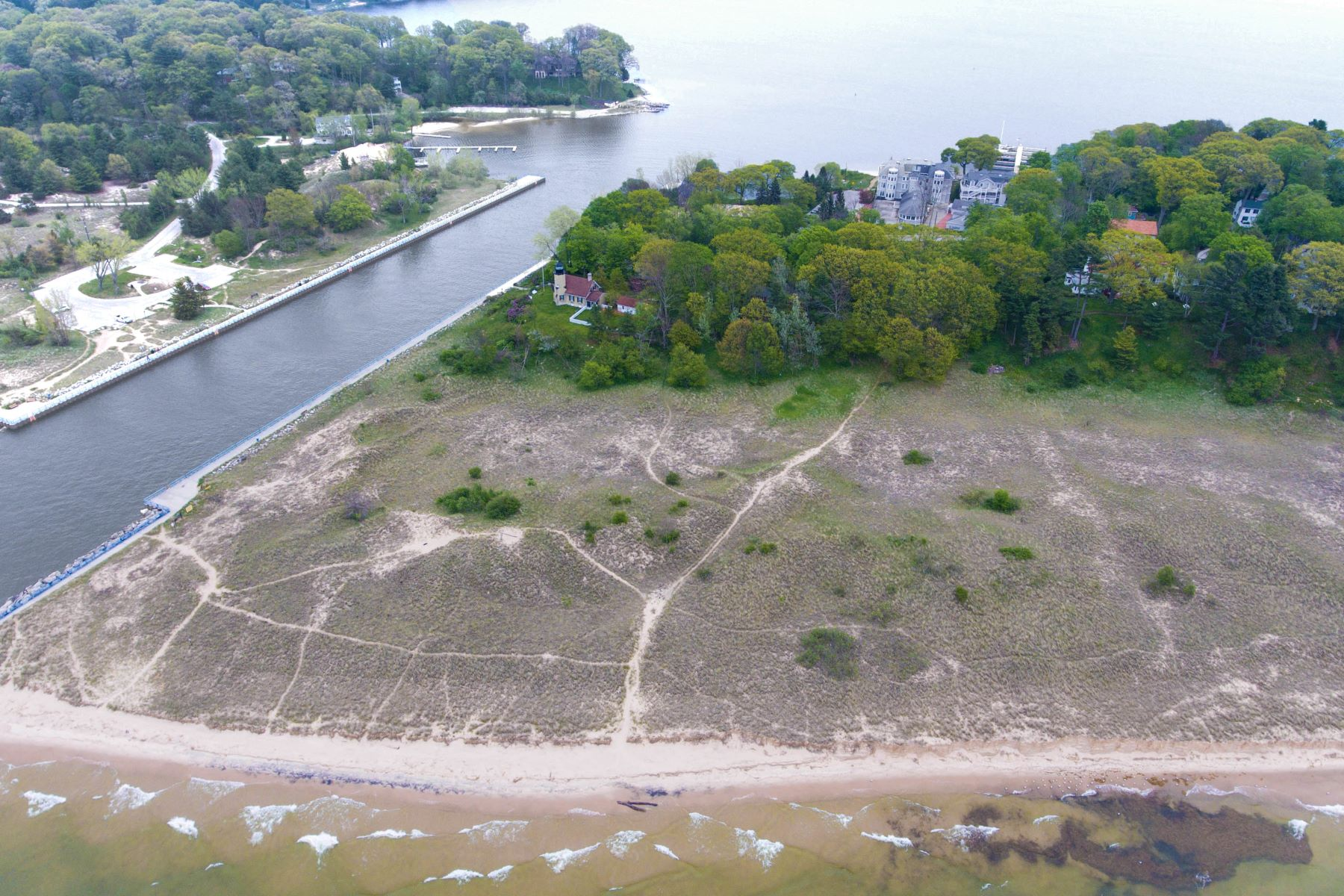 Land for Active at Lake Michigan Waterfront Property 6169 Murray Road Whitehall, Michigan 49461 United States