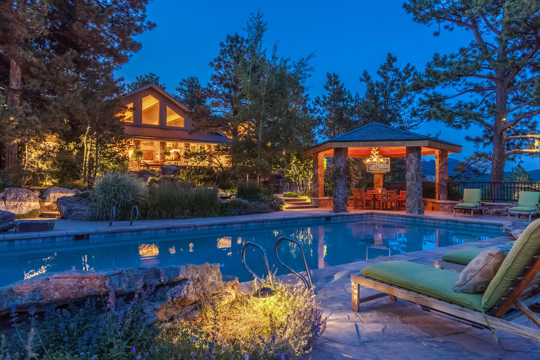 Single Family Home for Active at Tranquil Estate & Equestrian Property 7321 Flagstaff Rd Boulder, Colorado 80302 United States