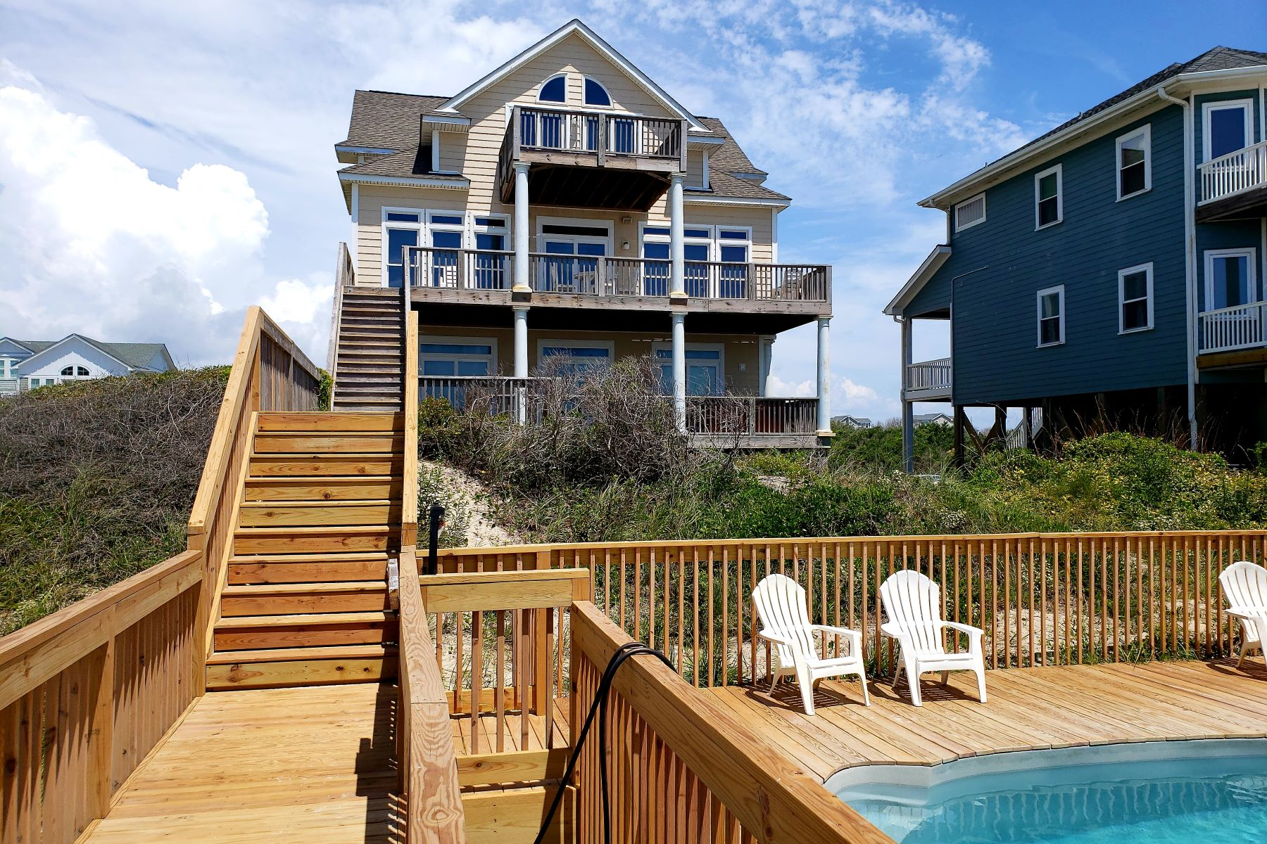 Single Family Homes for Sale at Magnificent Oceanfront Family Beach Home 31 Porpoise Place N Topsail Beach, North Carolina 28460 United States